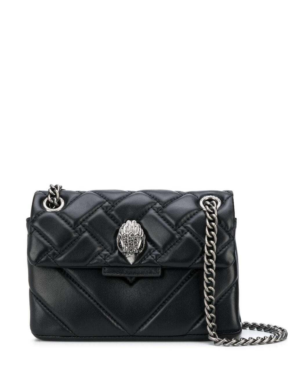 Kensington Black Quilted Leather Crossbody Bag