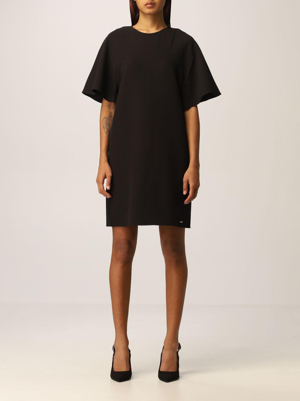 Armani Exchange Dress Half Sleeve Crepe