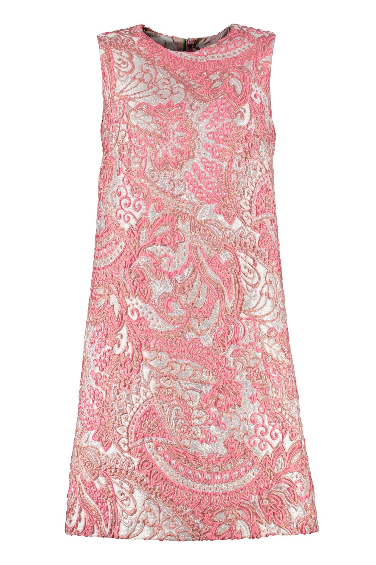 Dolce & Gabbana Lamé Jacquard Mini Dress