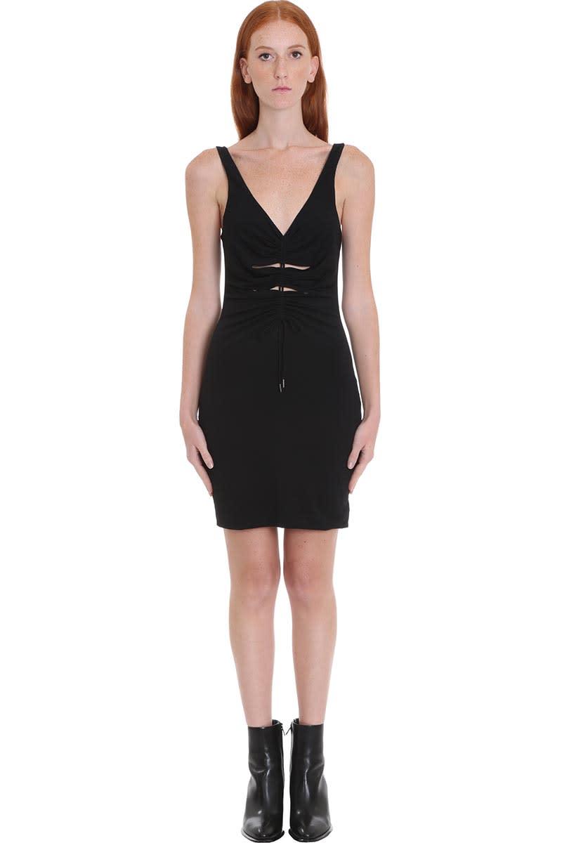 Buy T by Alexander Wang Dress In Black Viscose online, shop T by Alexander Wang with free shipping