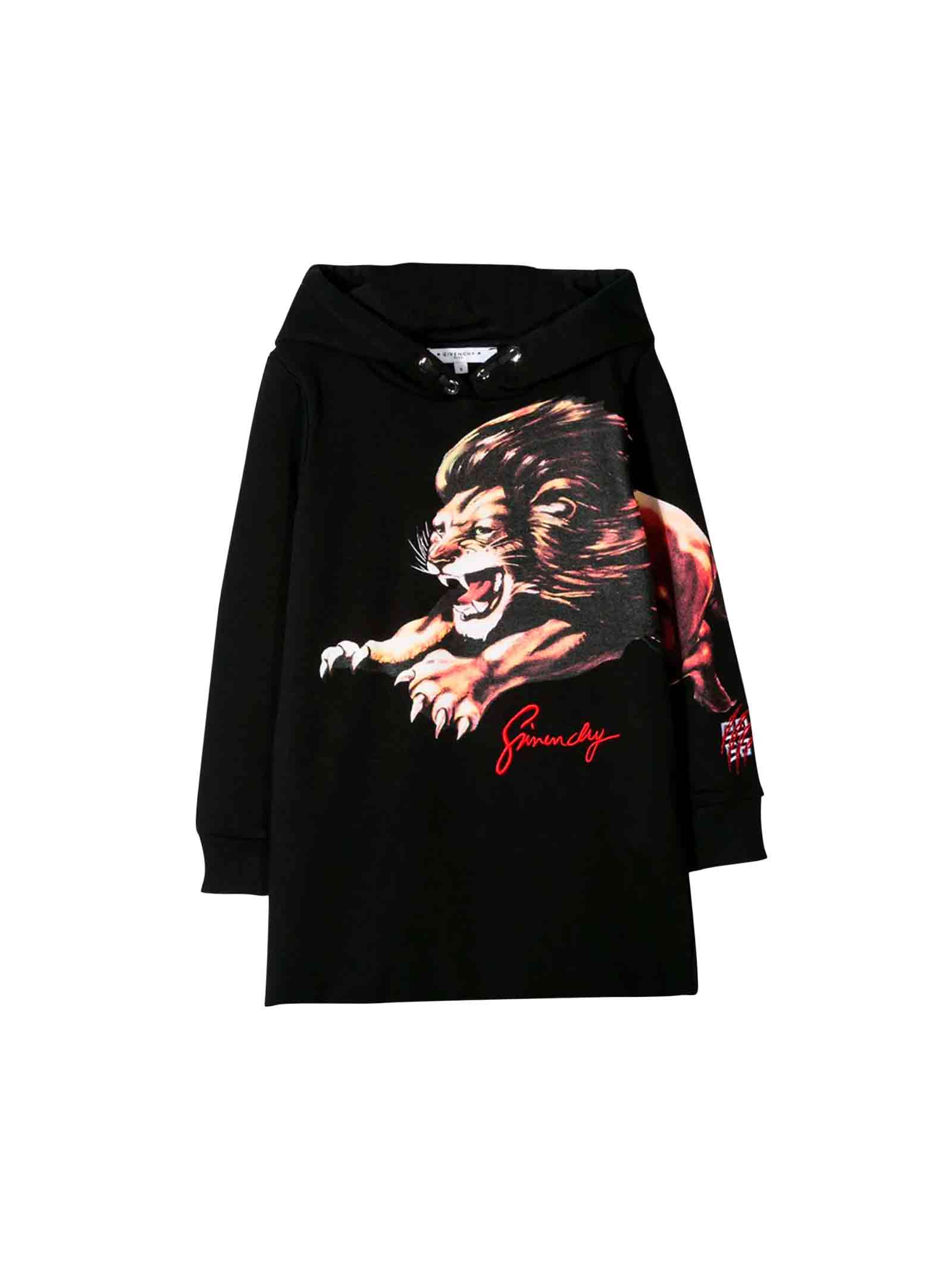 Givenchy Black Sweatshirt Dress Teen