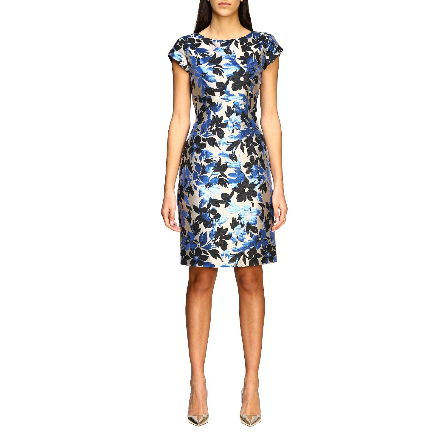 Buy Boutique Moschino Dress Boutique Moschino Dress In Floral Pattern Brocade online, shop Boutique Moschino with free shipping