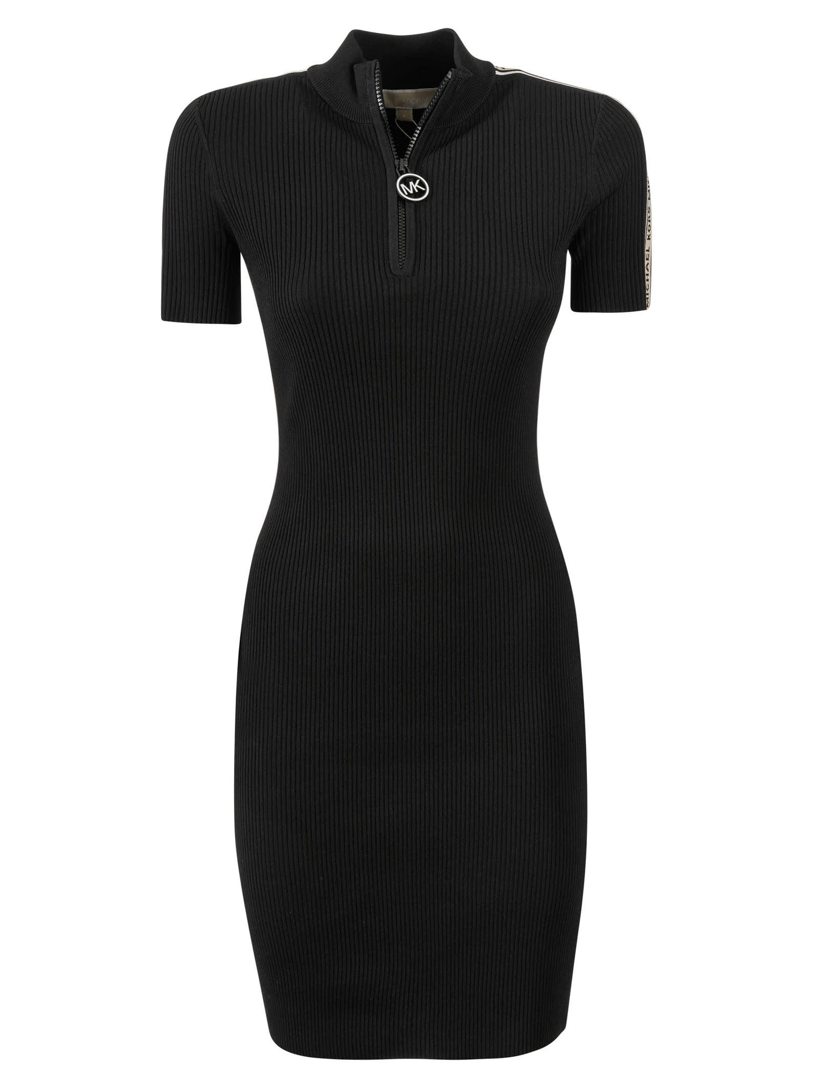 Buy MICHAEL Michael Kors Zipped Placket Slim Dress online, shop MICHAEL Michael Kors with free shipping