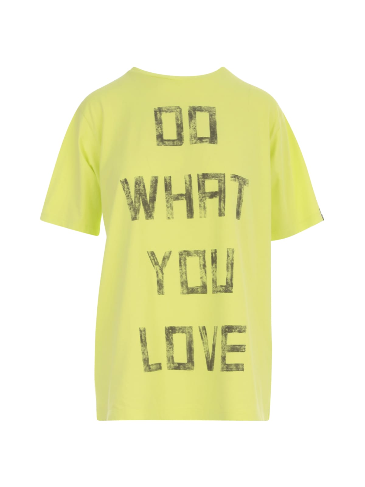 Golden Goose T-SHIRT AIRA BOYFRIEND S/S DO WHAT YOU LOVE BIG ON BACK/DIGITAL/WASHED EFFECT