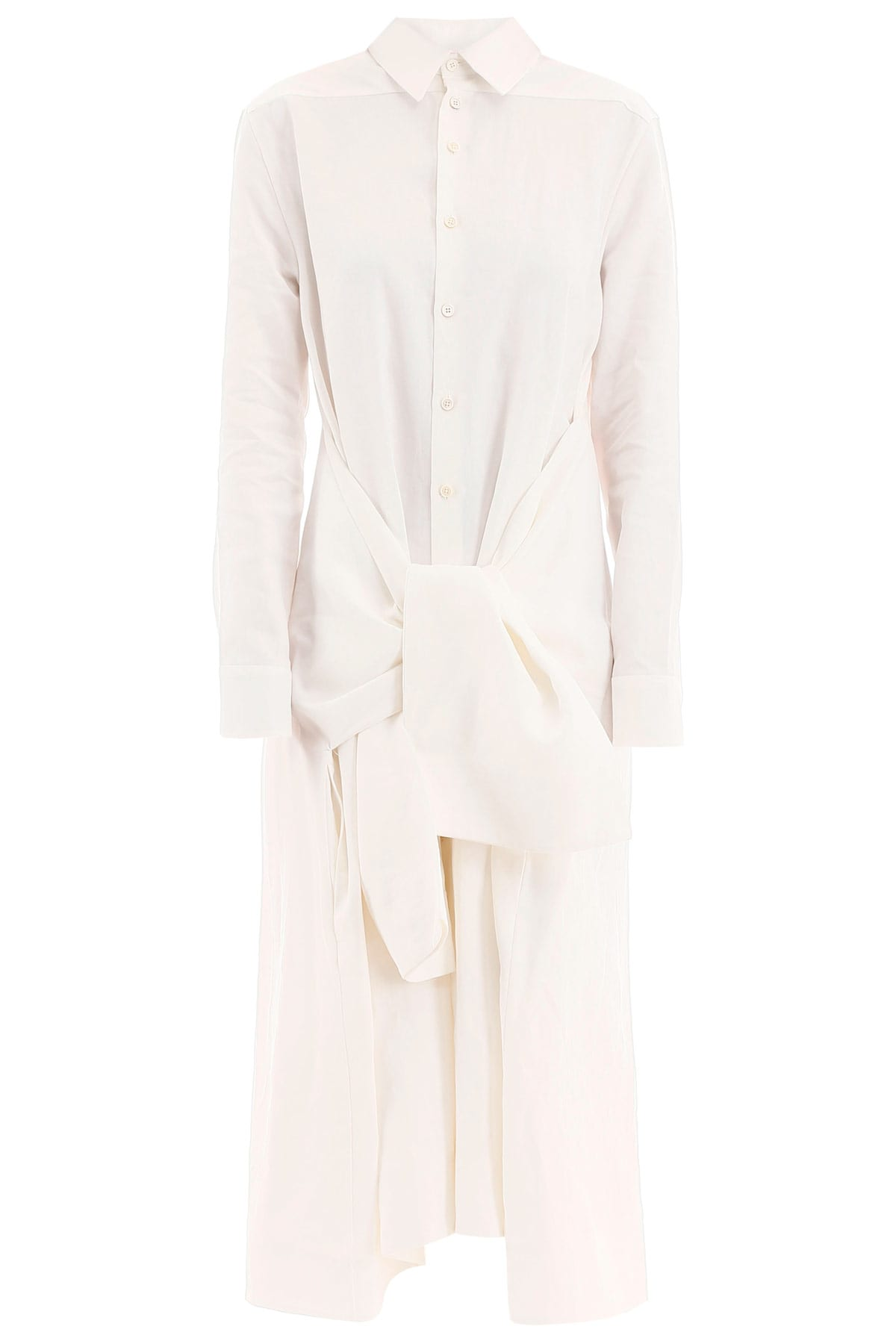 Buy Jil Sander Dress With Knot online, shop Jil Sander with free shipping