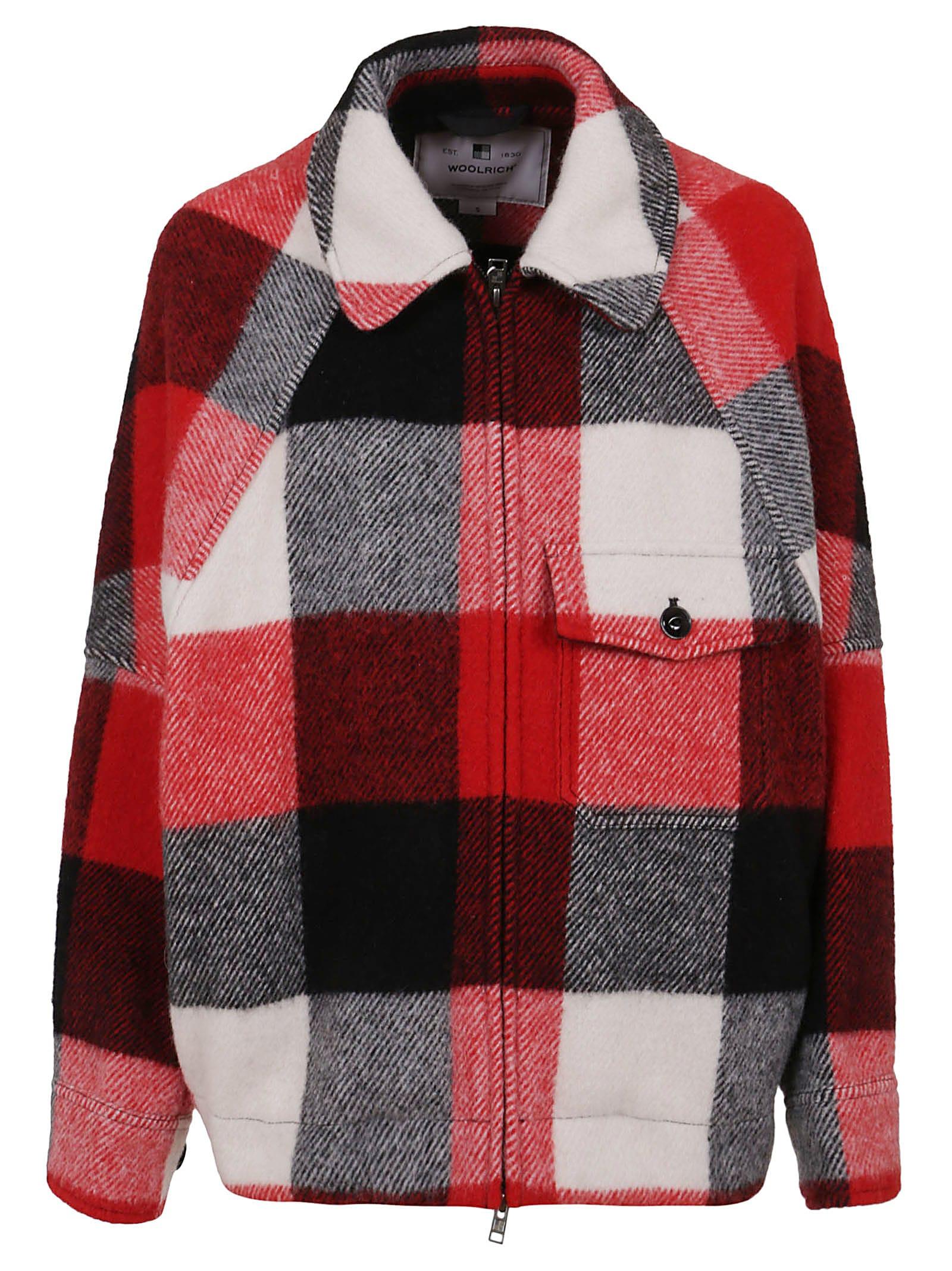 Patterned Wool Coat