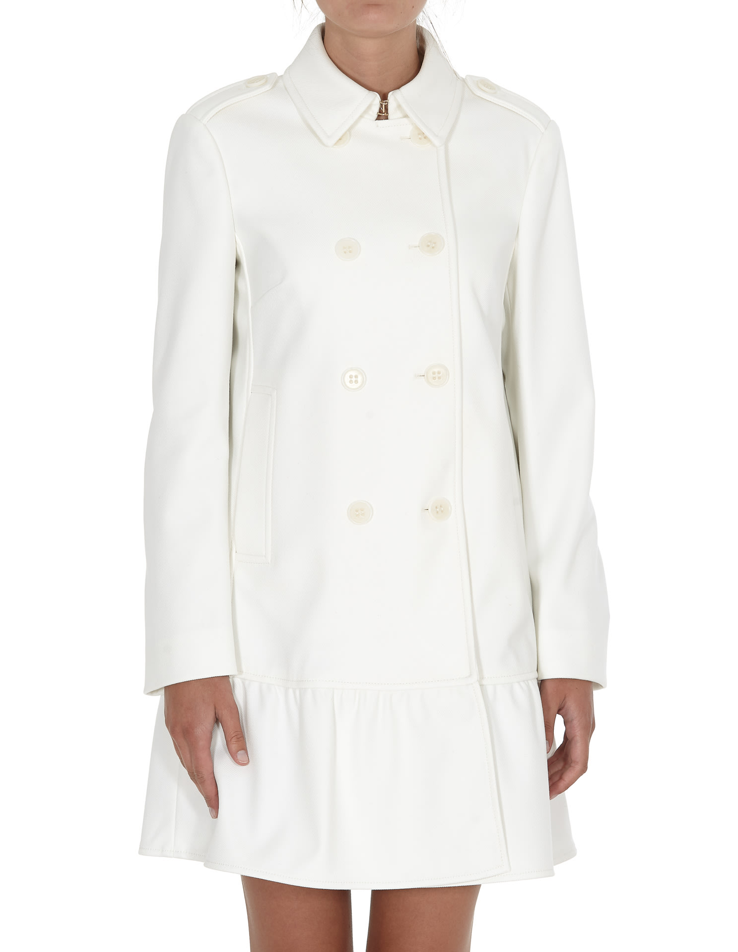 Red Valentino Tricotina Tech Coat