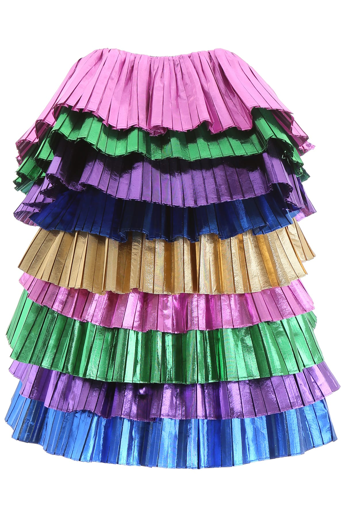 The Attico Multicolor Flounce Dress