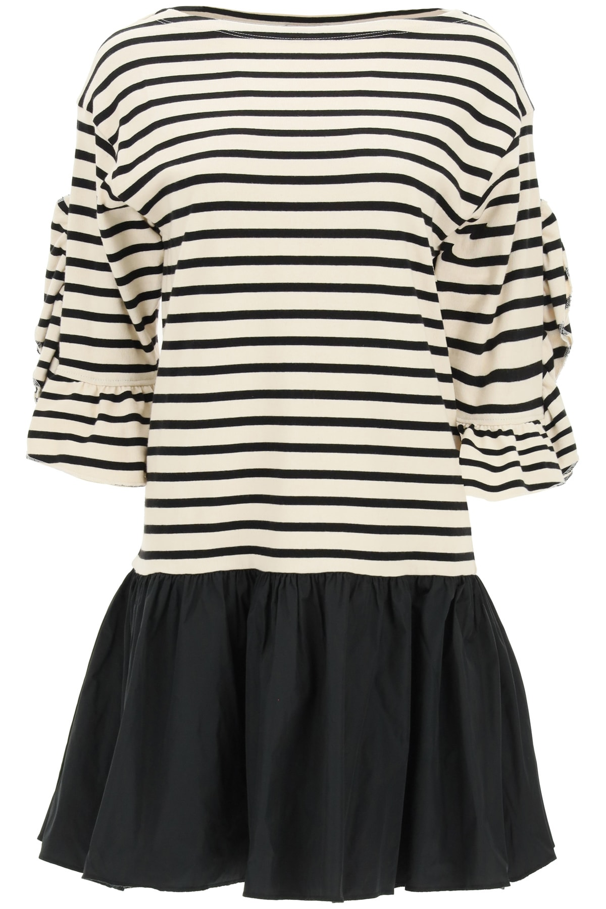 Buy RED Valentino Bi-material Mini Dress online, shop RED Valentino with free shipping