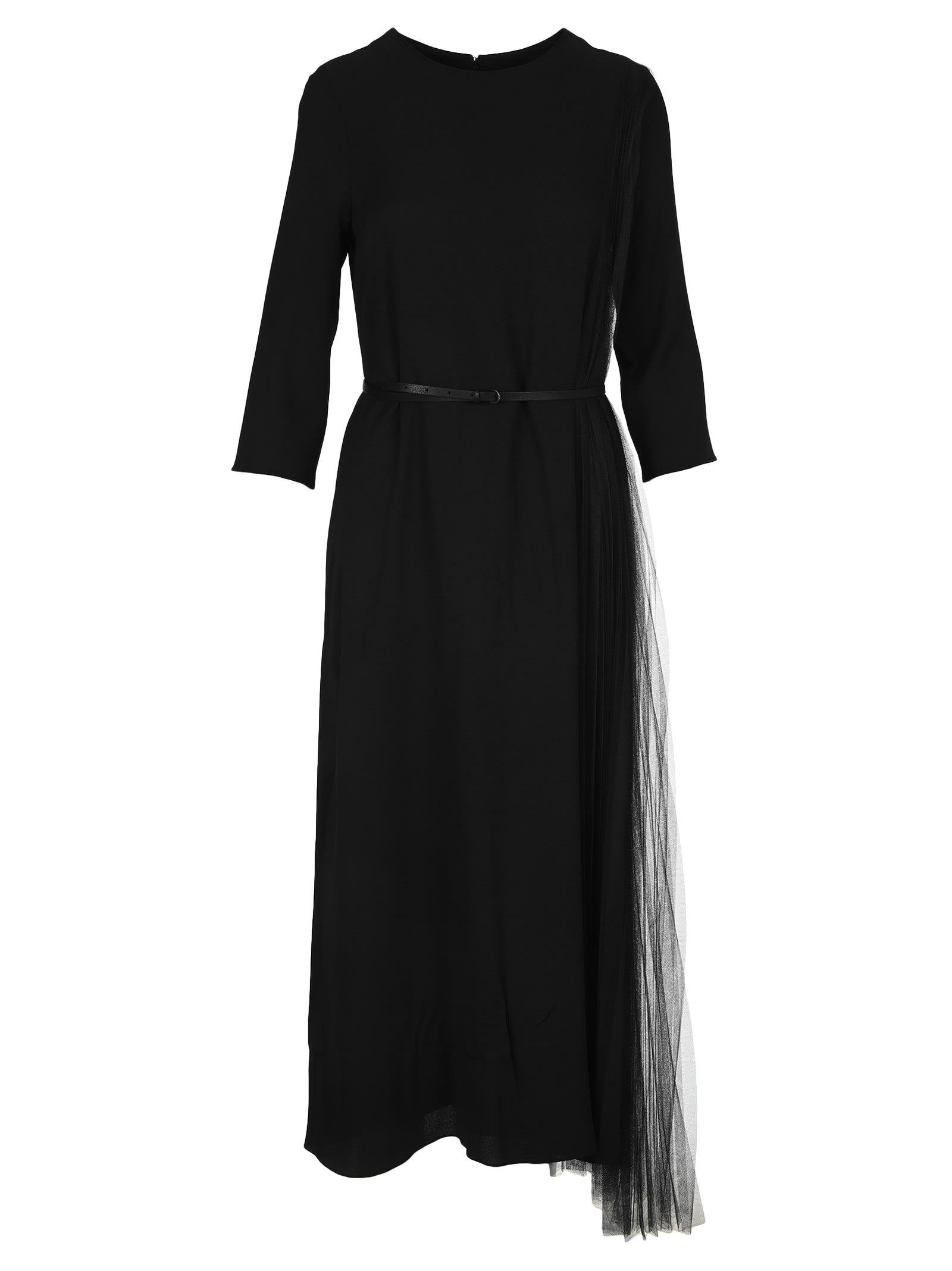 Buy Fabiana Filippi Tulle Insert Maxi Dress online, shop Fabiana Filippi with free shipping