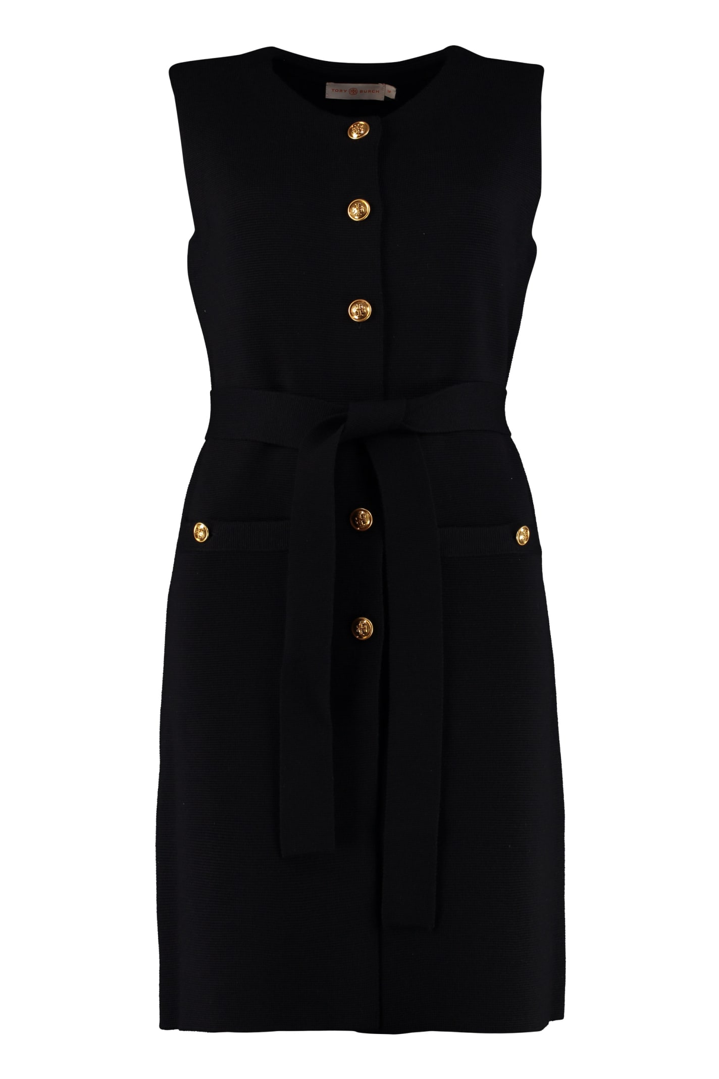 Tory Burch Belted Knit Dress