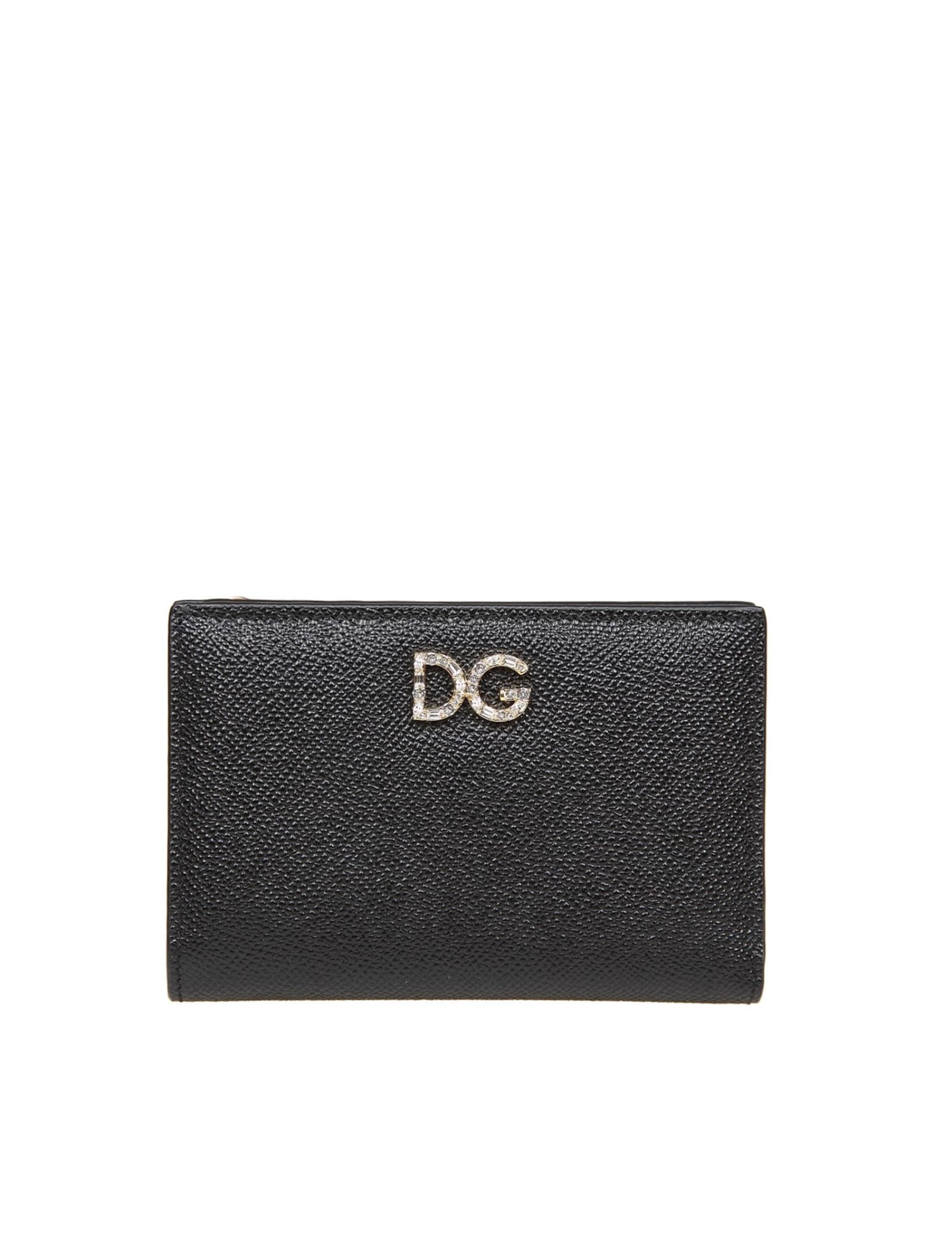 Dolce & Gabbana SMALL BLACK LEATHER WALLET