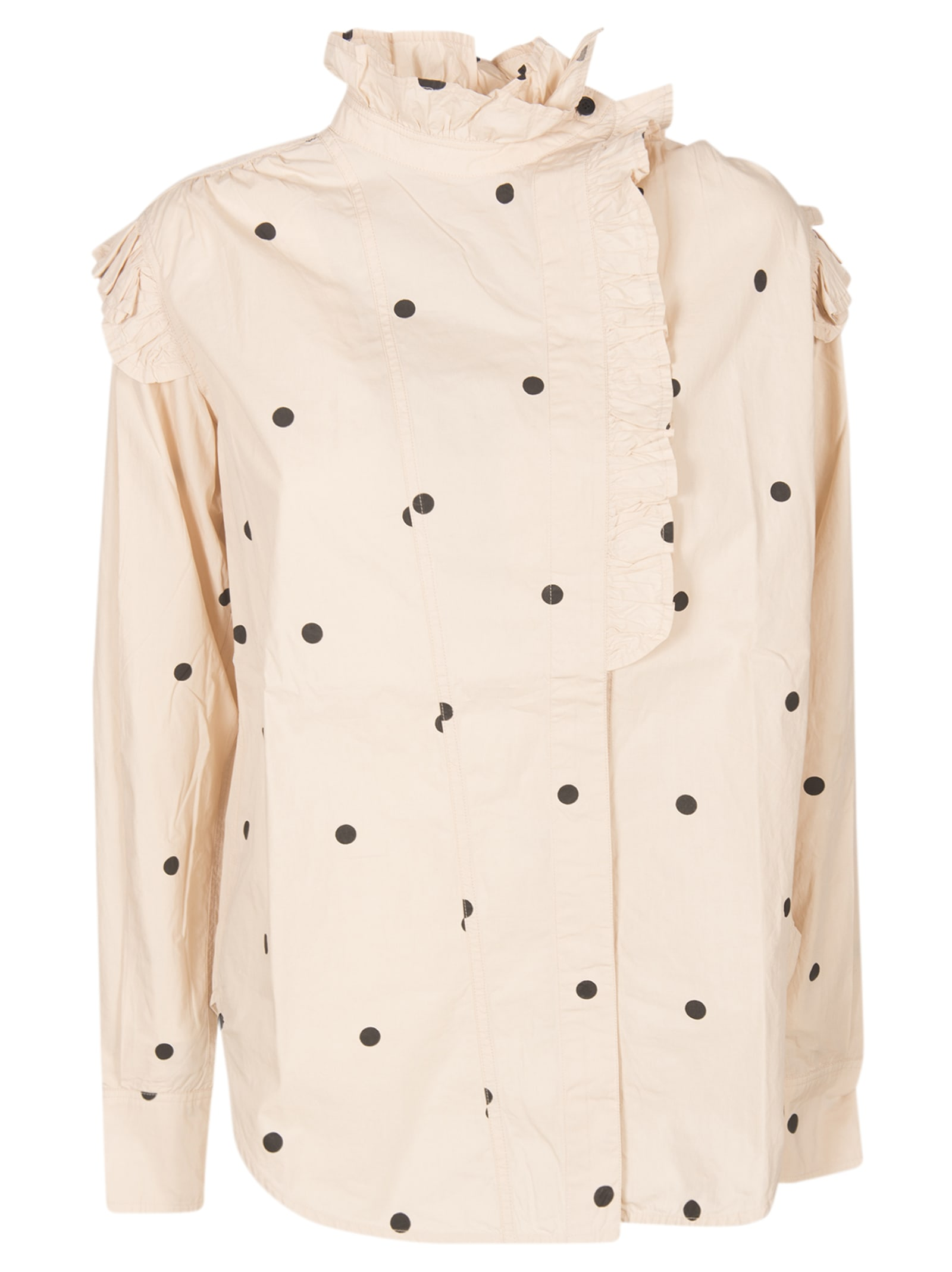 Dotted Print Blouse