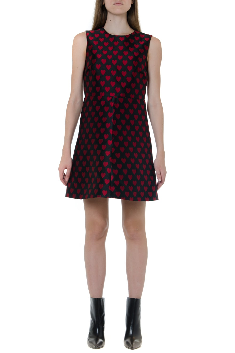 RED Valentino Heart Printed Brocade Dress