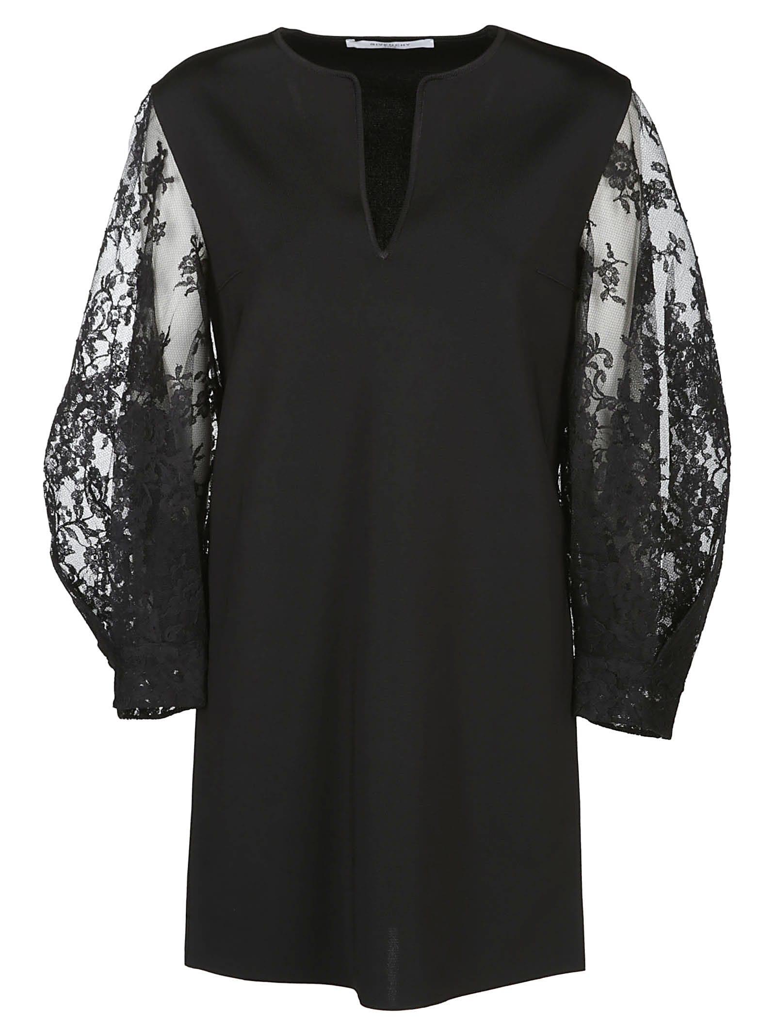 Givenchy Sheer Sleeves Short Dress