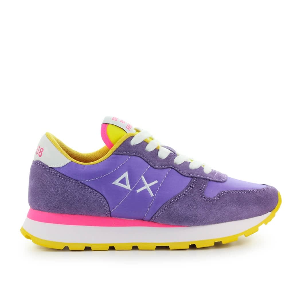 Sun 68 Suedes SUN68 ALLY SOLID NYLON LILAC YELLOW SNEAKER