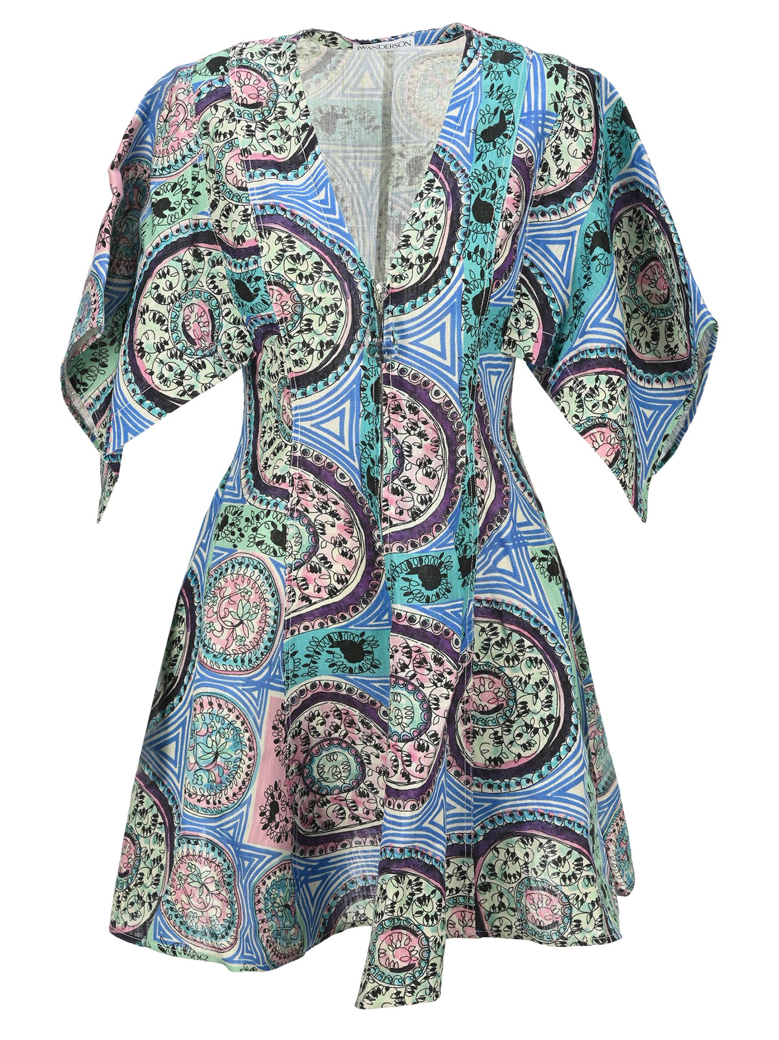 Buy Jw Anderson Venetian Print Mini Dress online, shop J.W. Anderson with free shipping