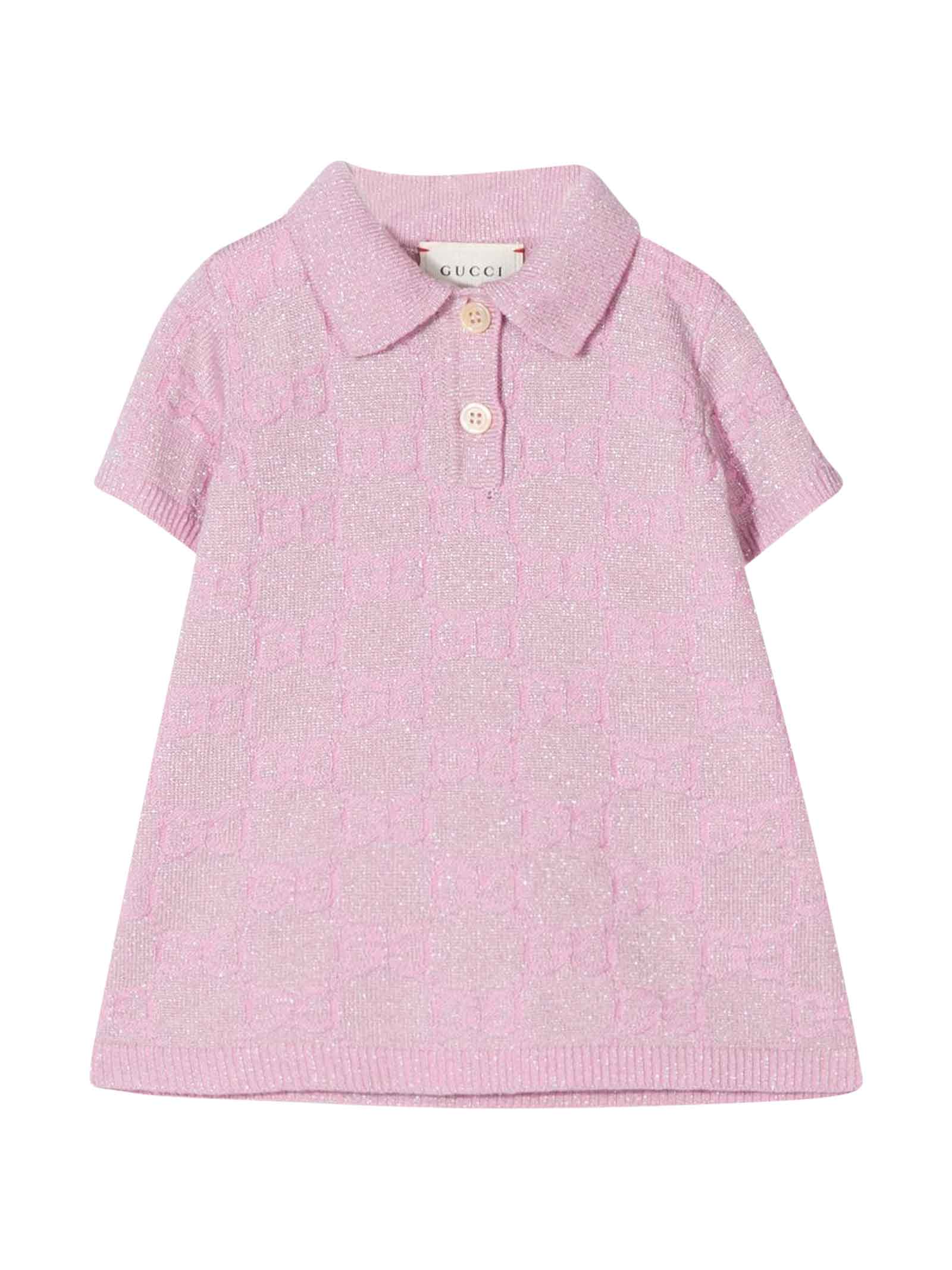 Buy Gucci Pink Flared Dress online, shop Gucci with free shipping