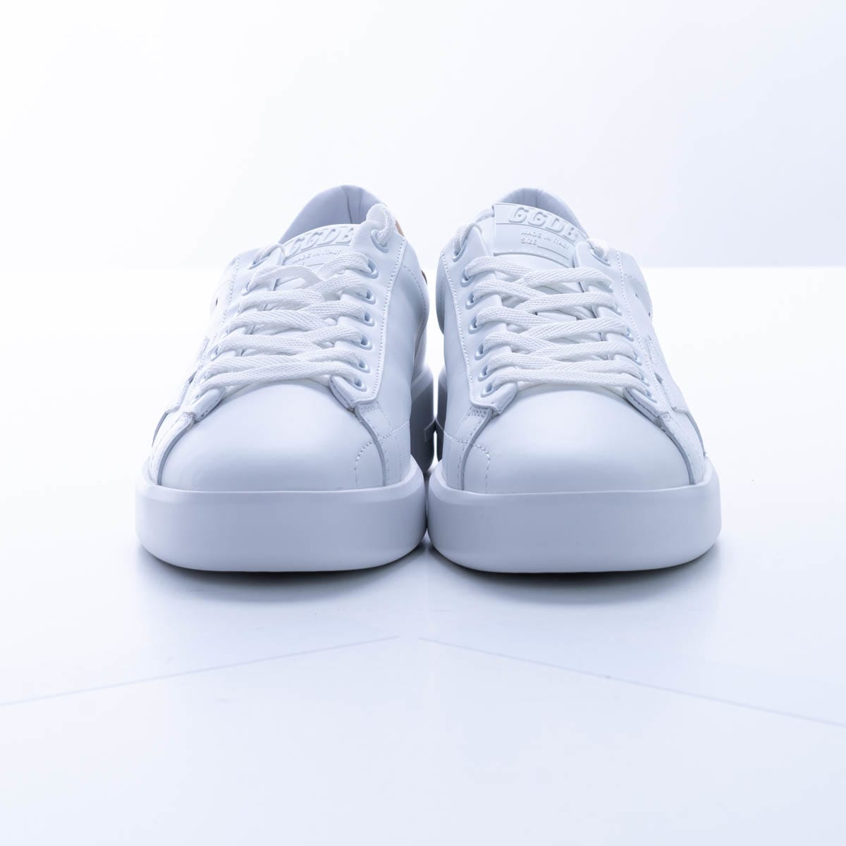Golden Goose Pure Leather Sneaker In White - Beige