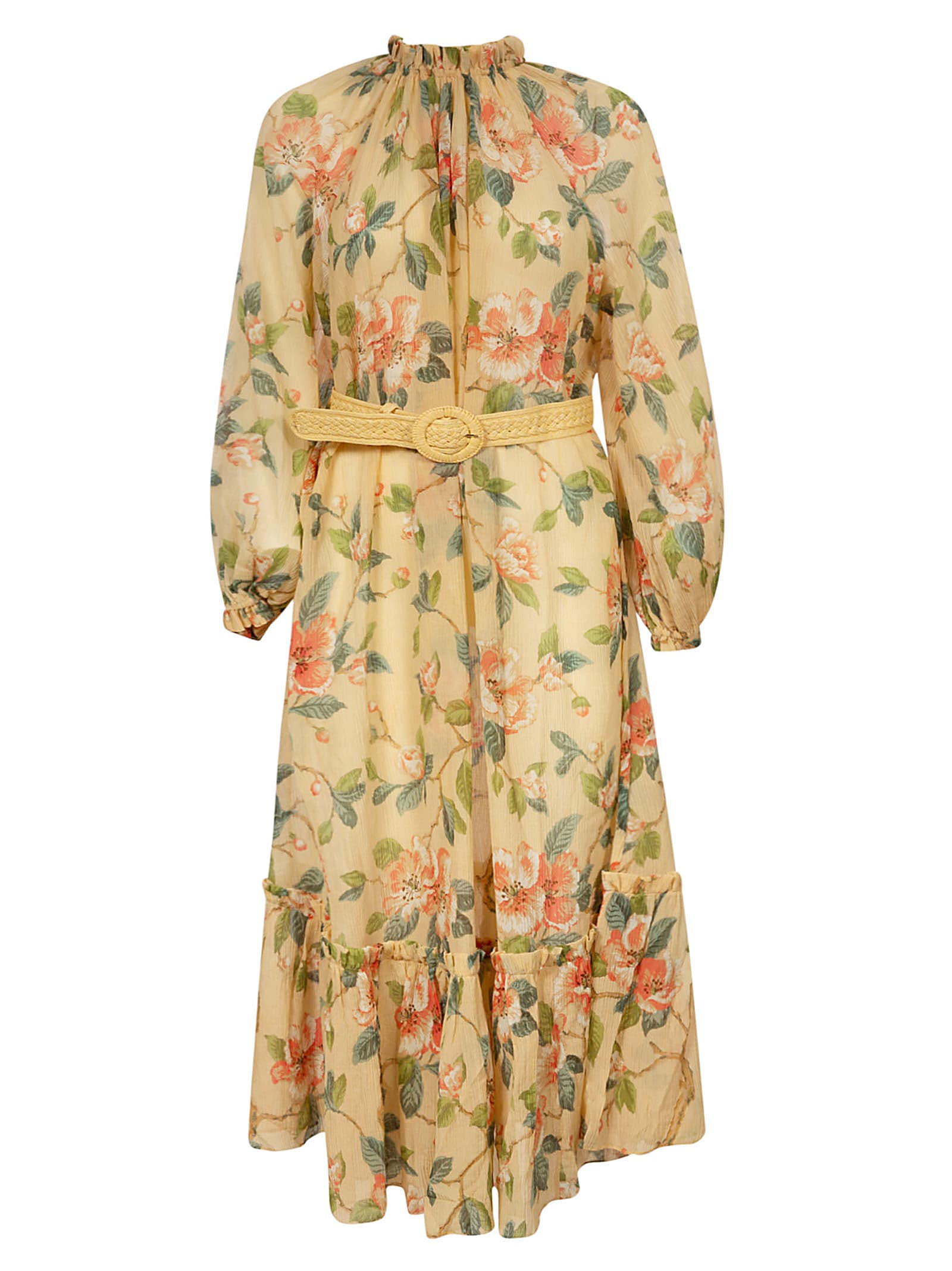 Buy Zimmermann Belted Detail Kirra Maxi Dress online, shop Zimmermann with free shipping