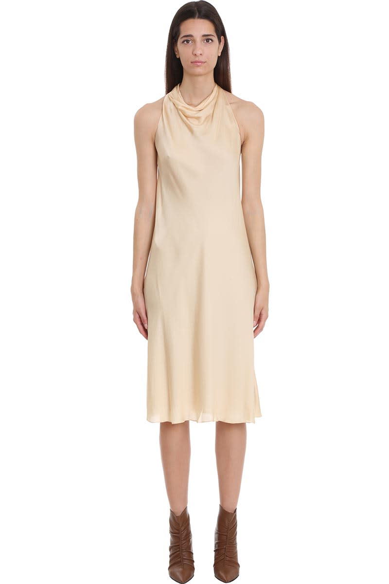 Theory Dress In Beige Silk