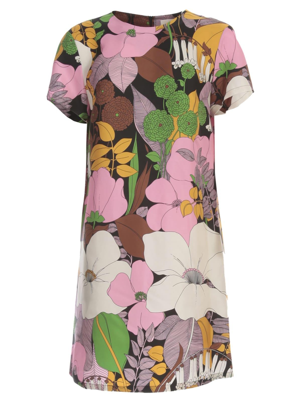 La DoubleJ Mini Swing Dress S/s Flowers Fantasy