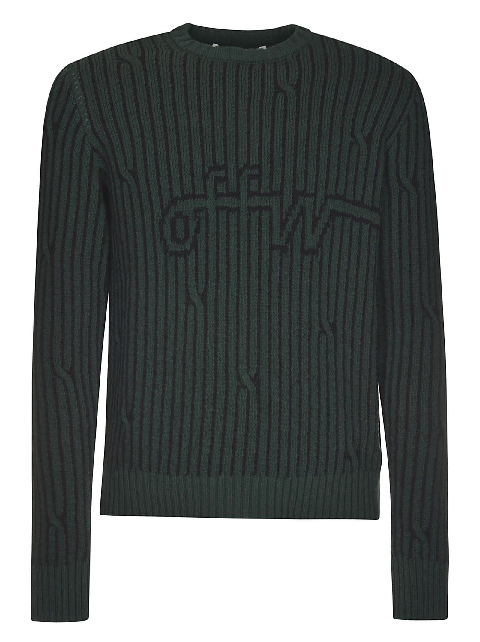 Off-White Cabled Off Crewneck
