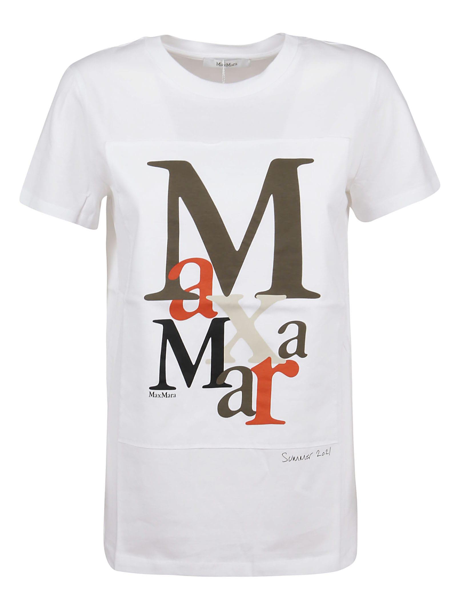 Max Mara Cottons WHITE COTTON T-SHIRT