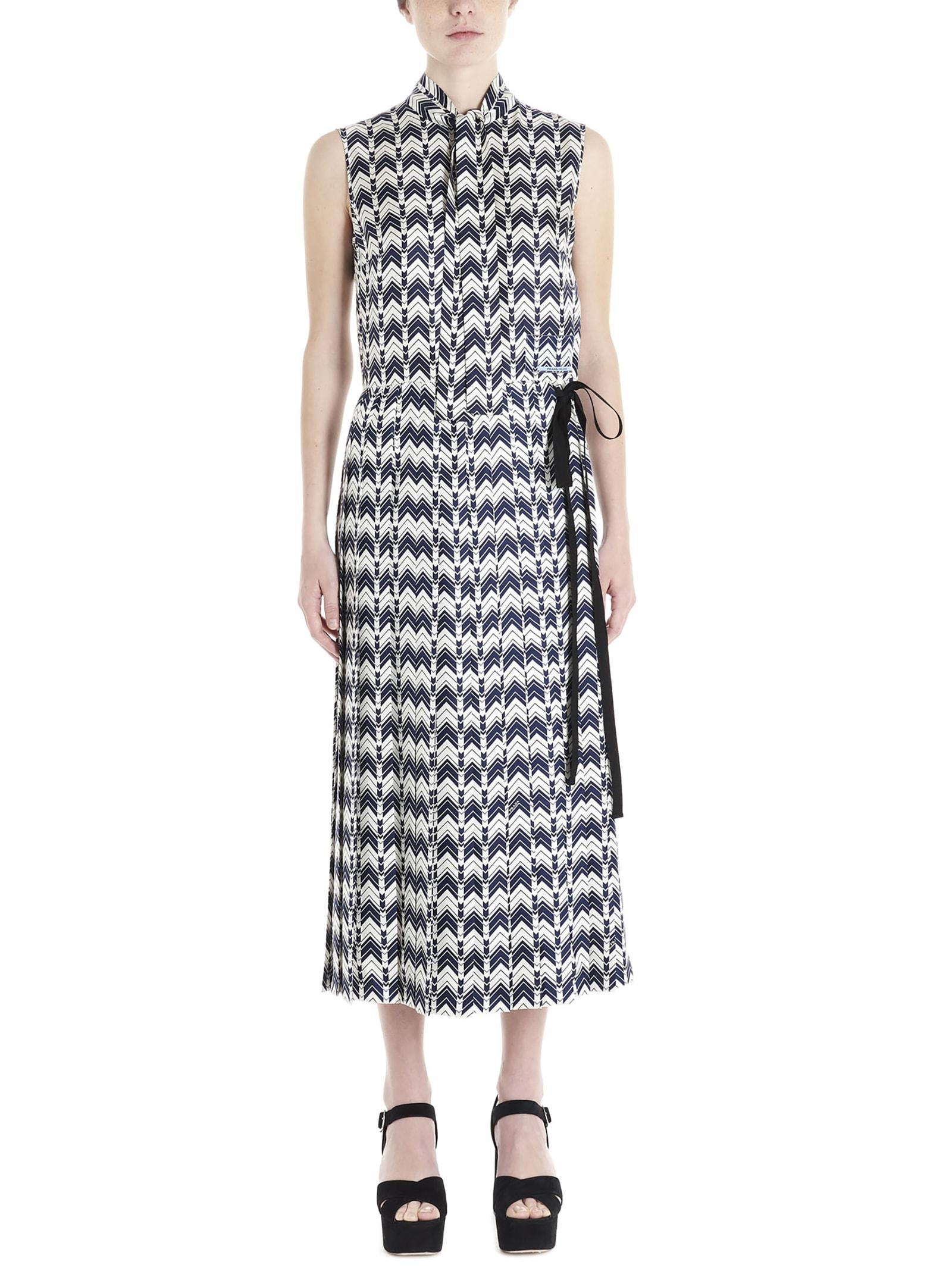 Buy Prada chevron Dress online, shop Prada with free shipping
