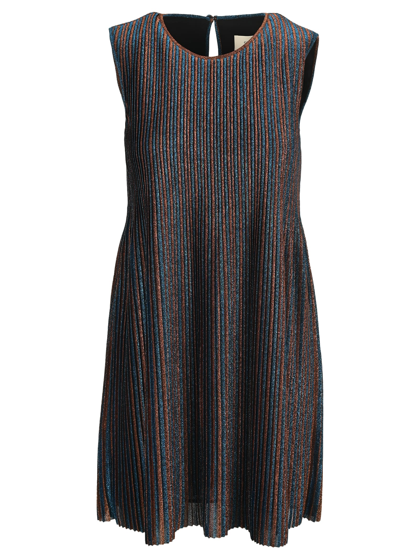 Golden Goose Glitter Stripe Mini Dress