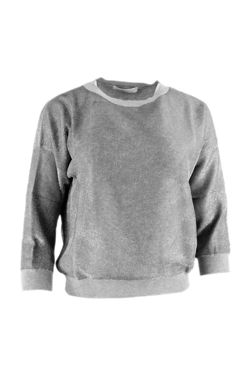 Fabiana Filippi Long-sleeved Crewneck Sweater In Cotton