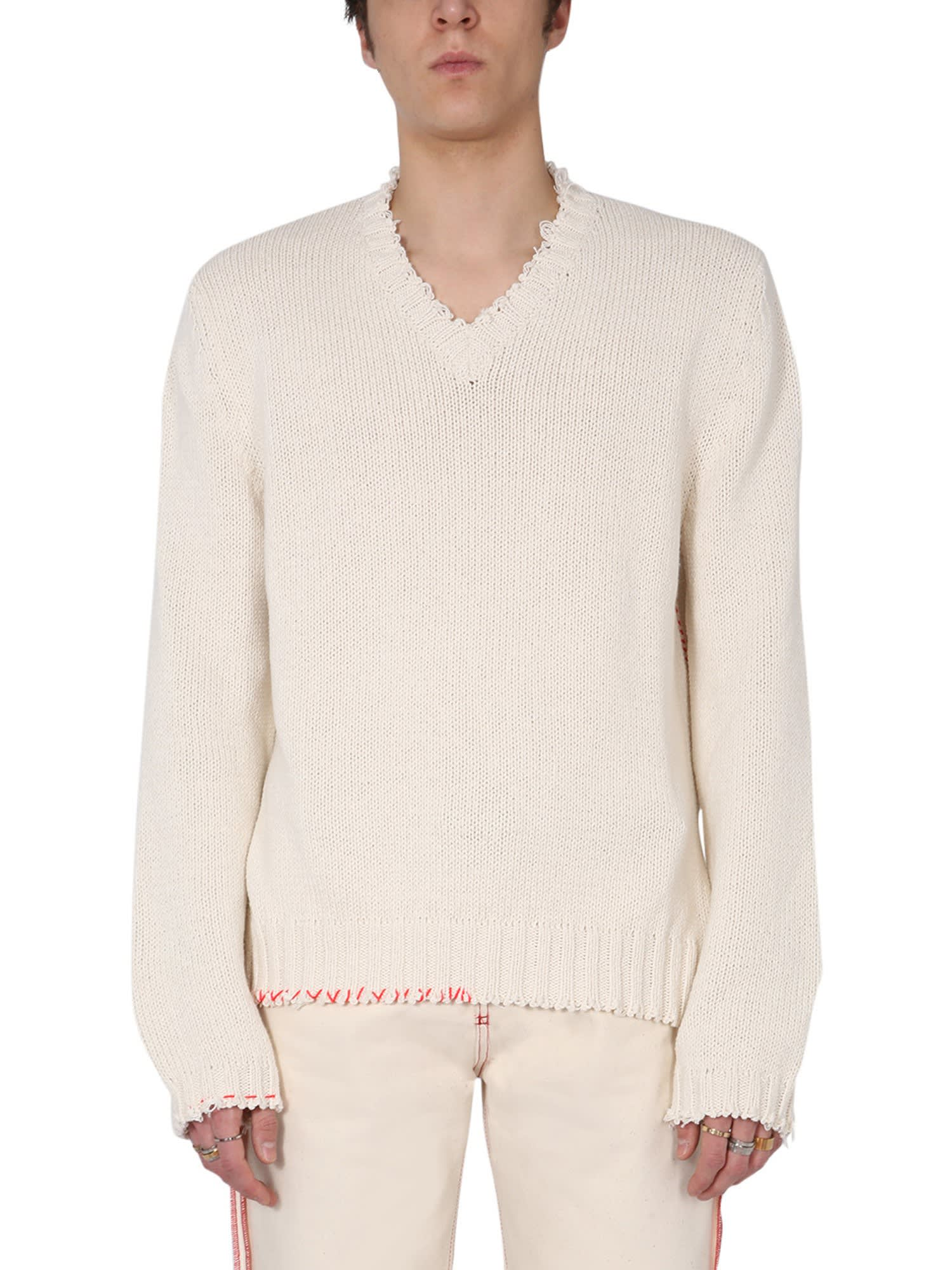 Maison Margiela DESTROYED SWEATER