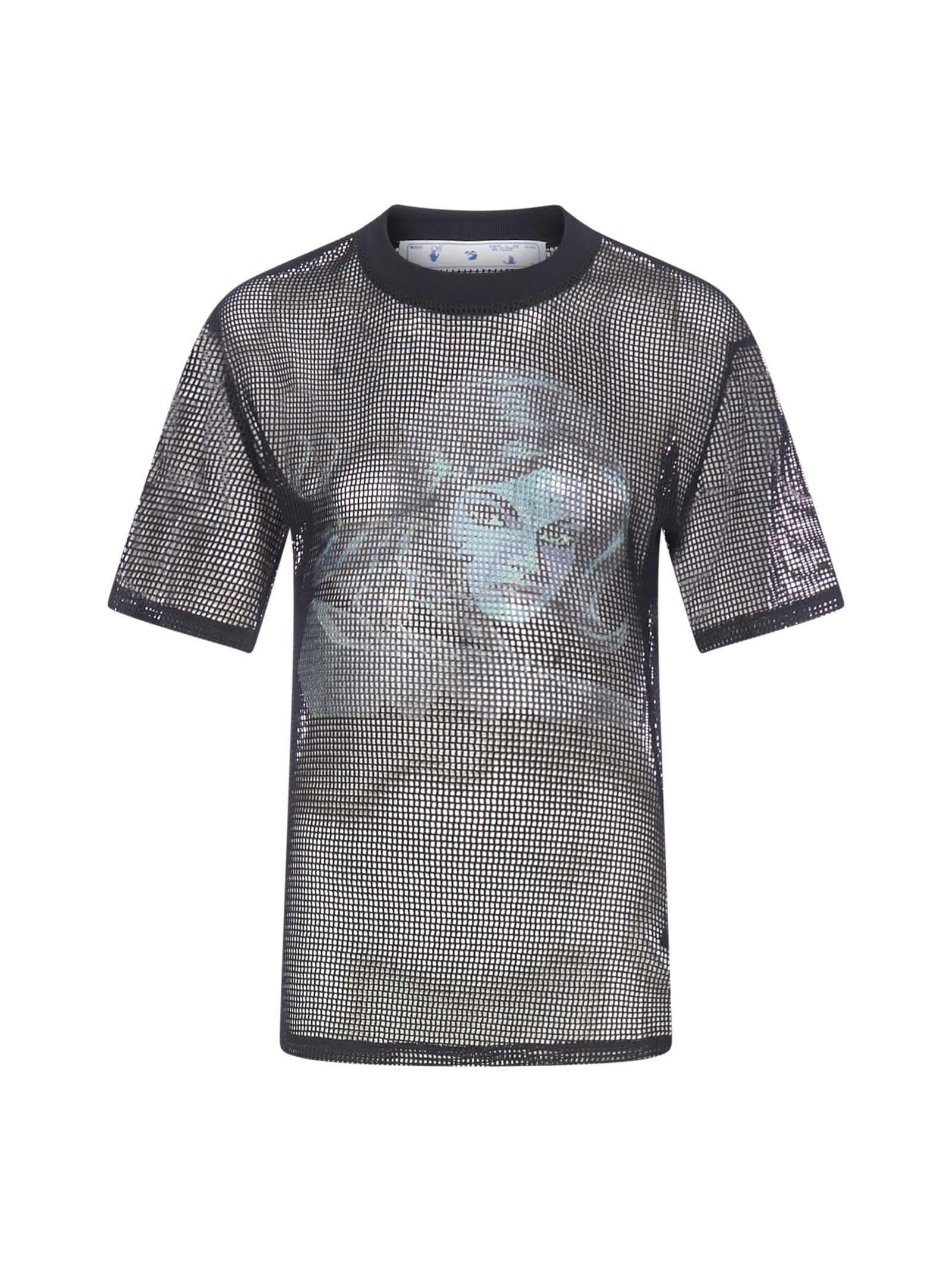 Off-White Panther Draped Net T-shirt
