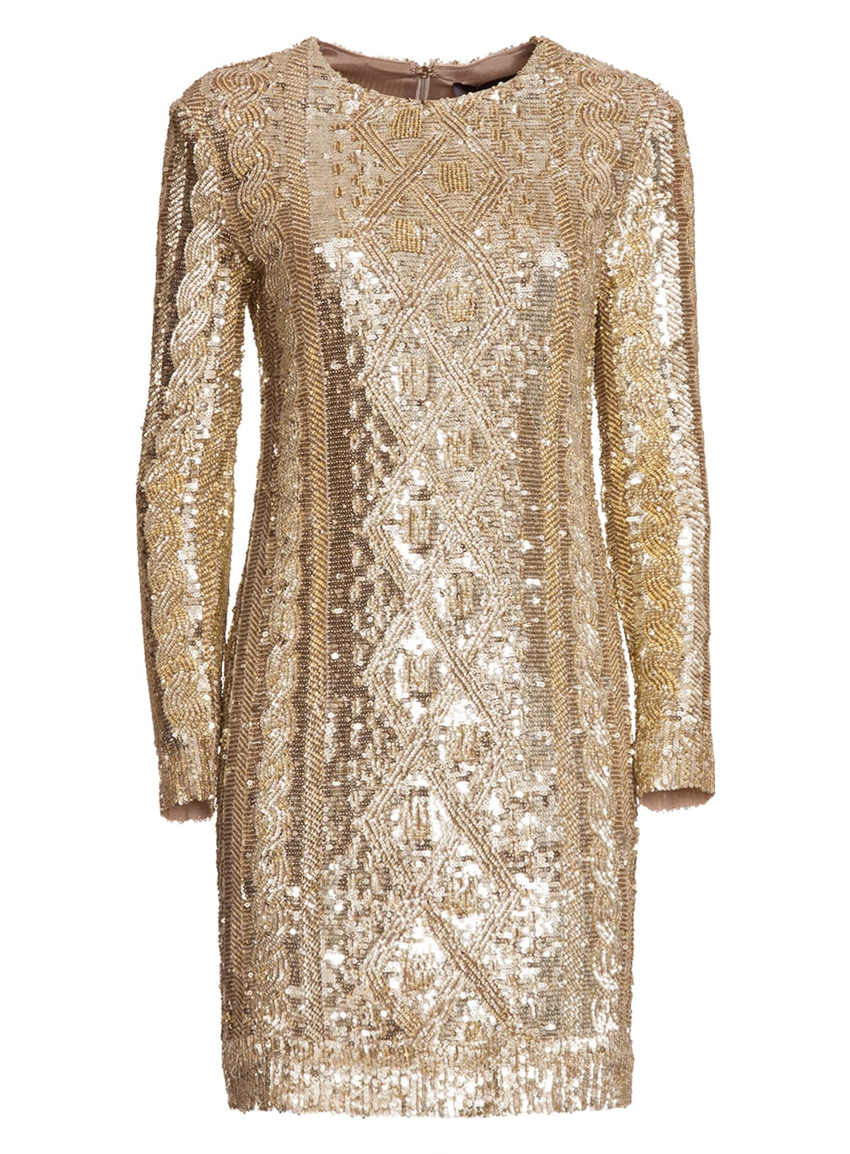 Max Mara Dress In Techno Sweater With Sequins