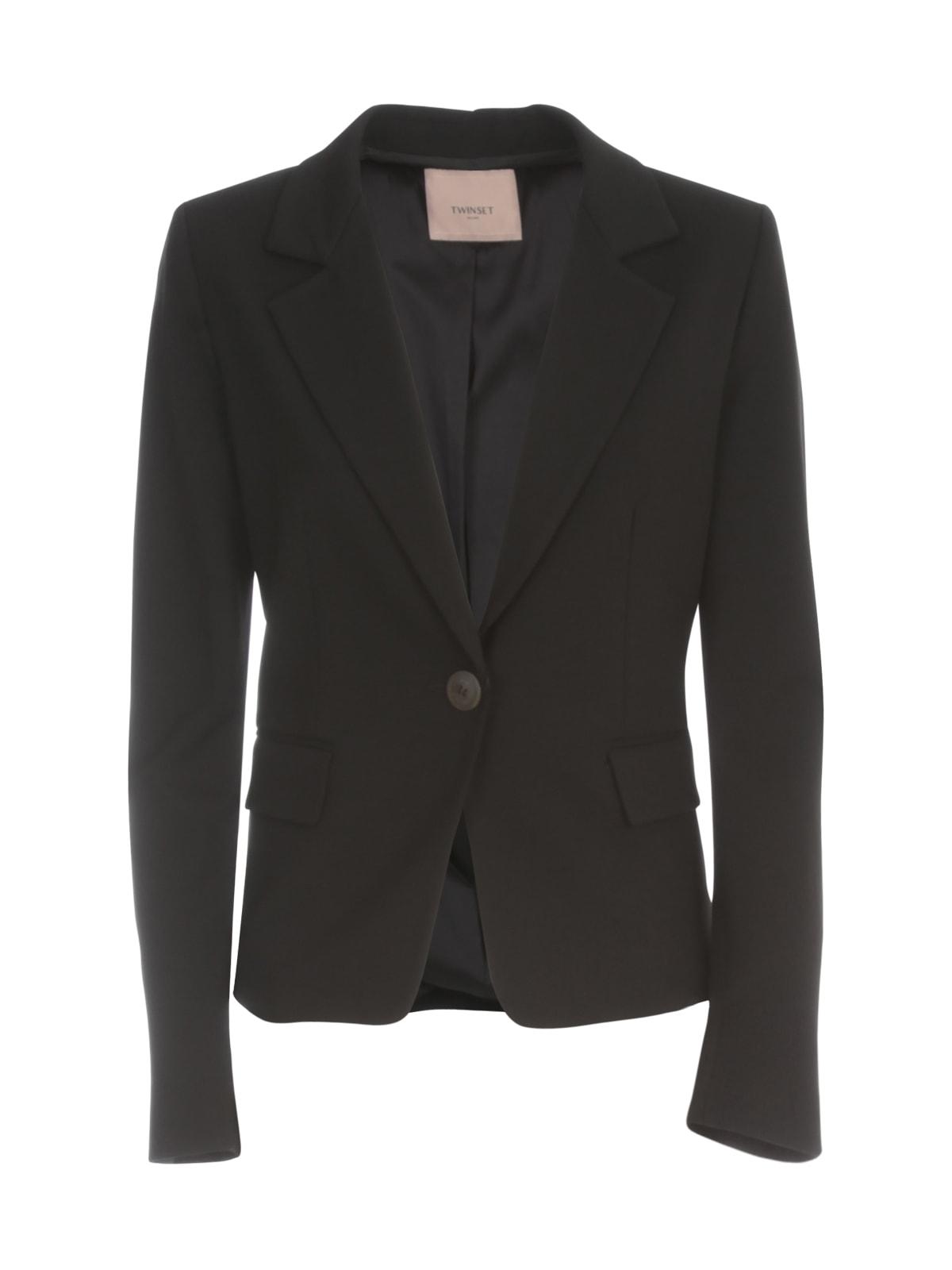 TwinSet Short Single Breasted Jacket