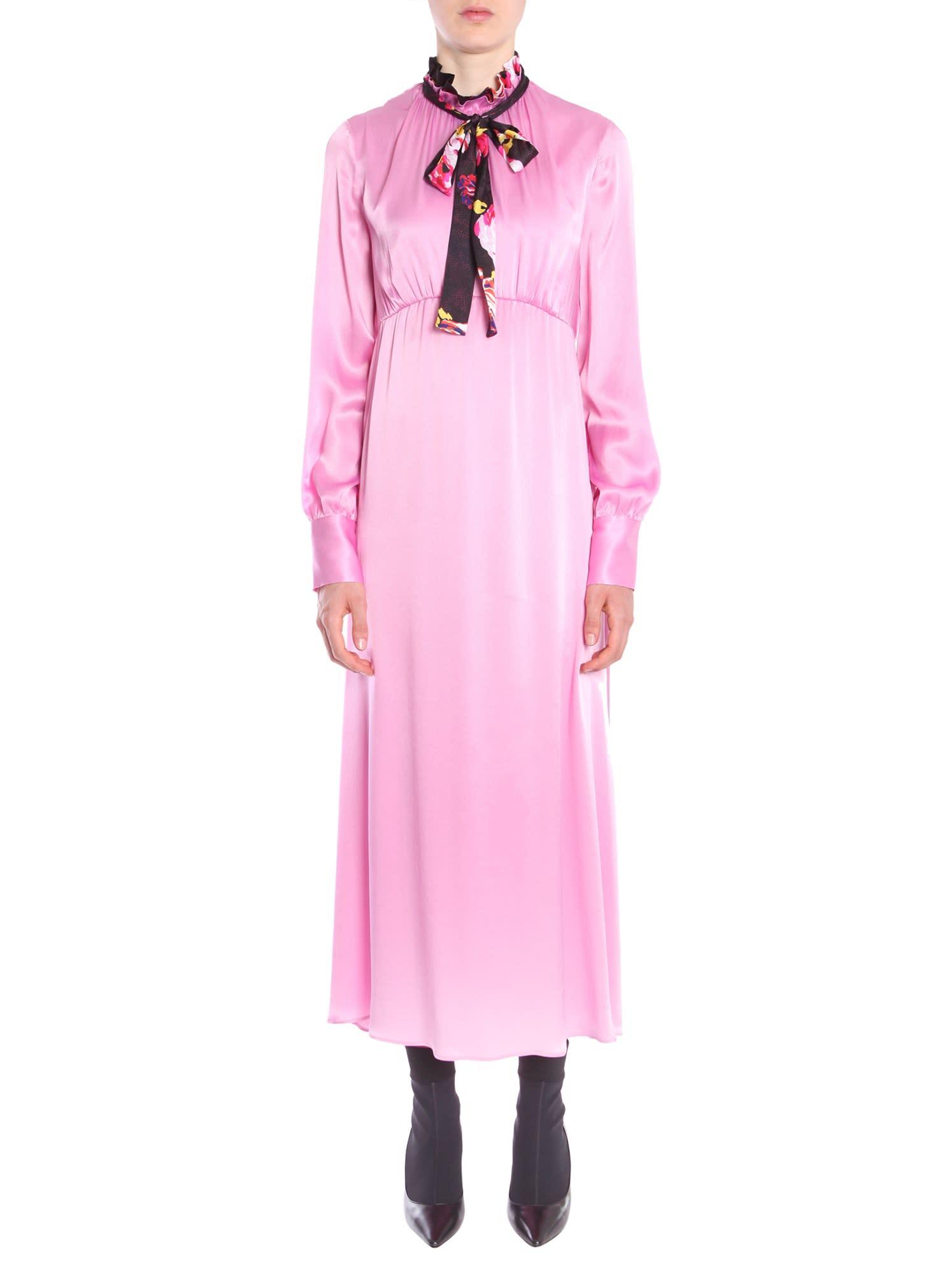 MSGM Long Satin Dress
