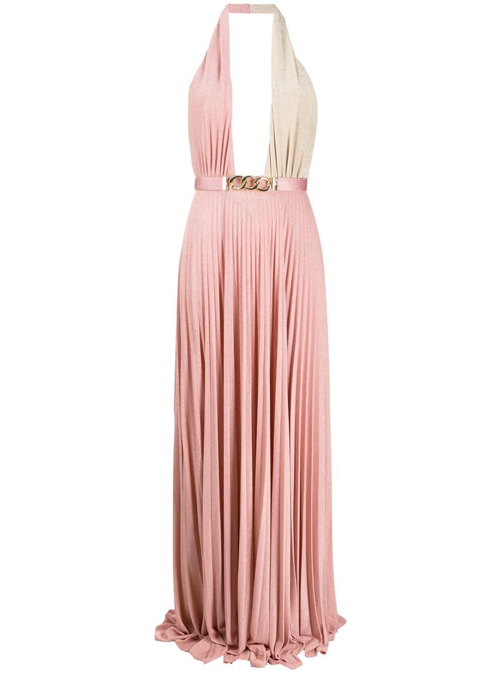Buy Elisabetta Franchi Celyn B. Dress With Belt online, shop Elisabetta Franchi Celyn B. with free shipping