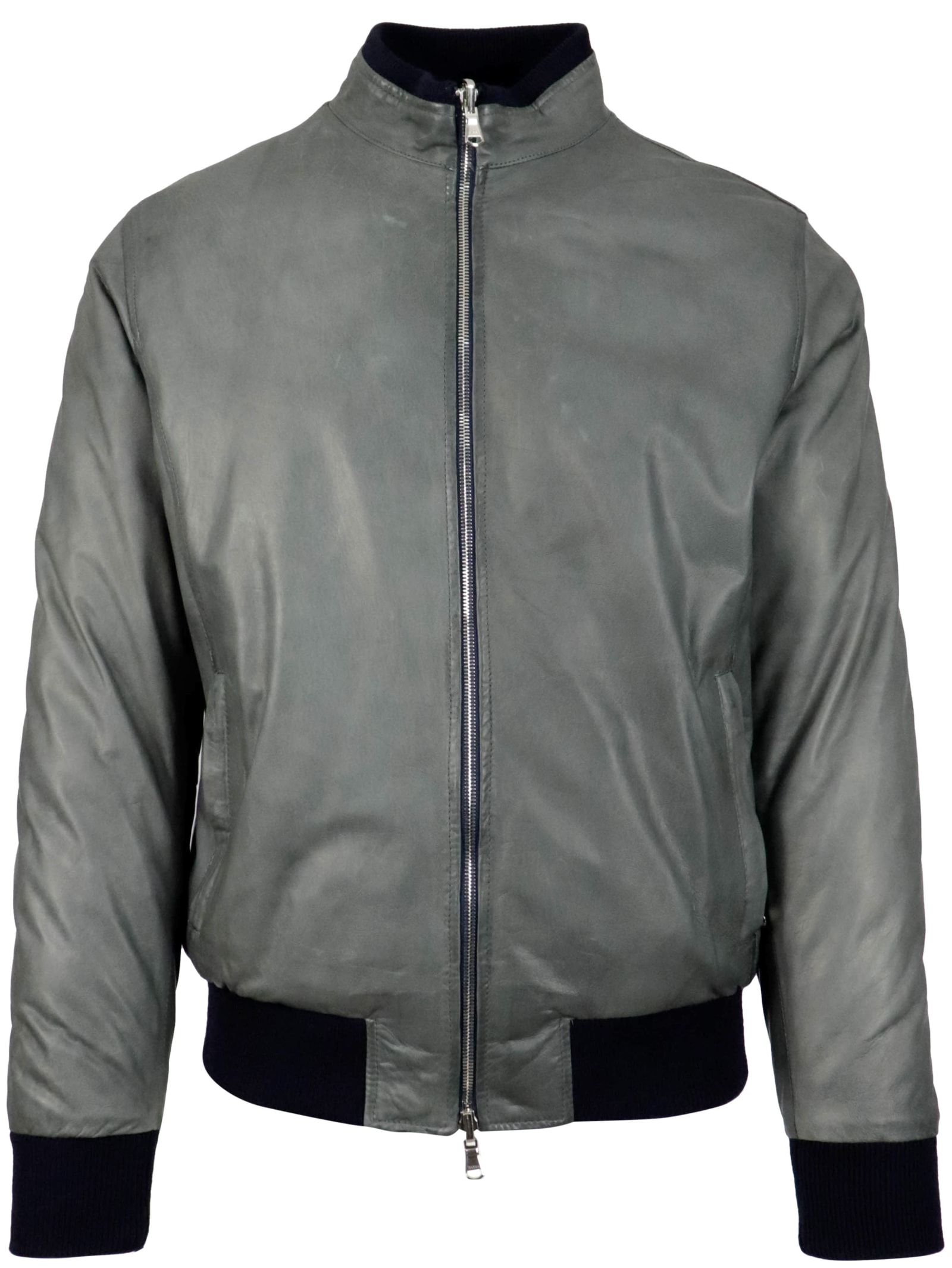 Barba Napoli 100% Leather Leather Jacket