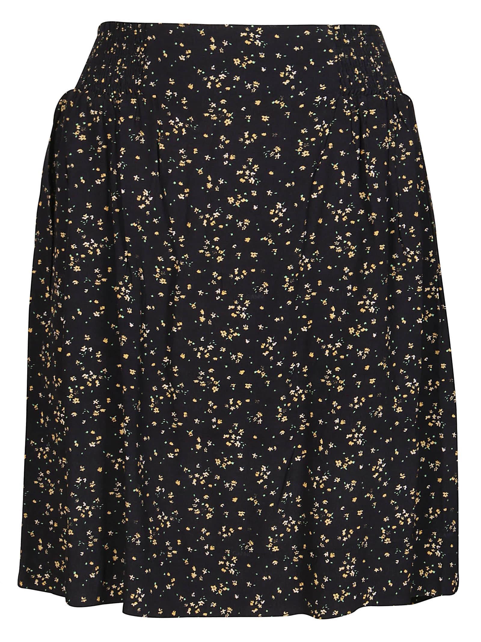 Ganni Skirts BLACK VISCOSE SKIRT