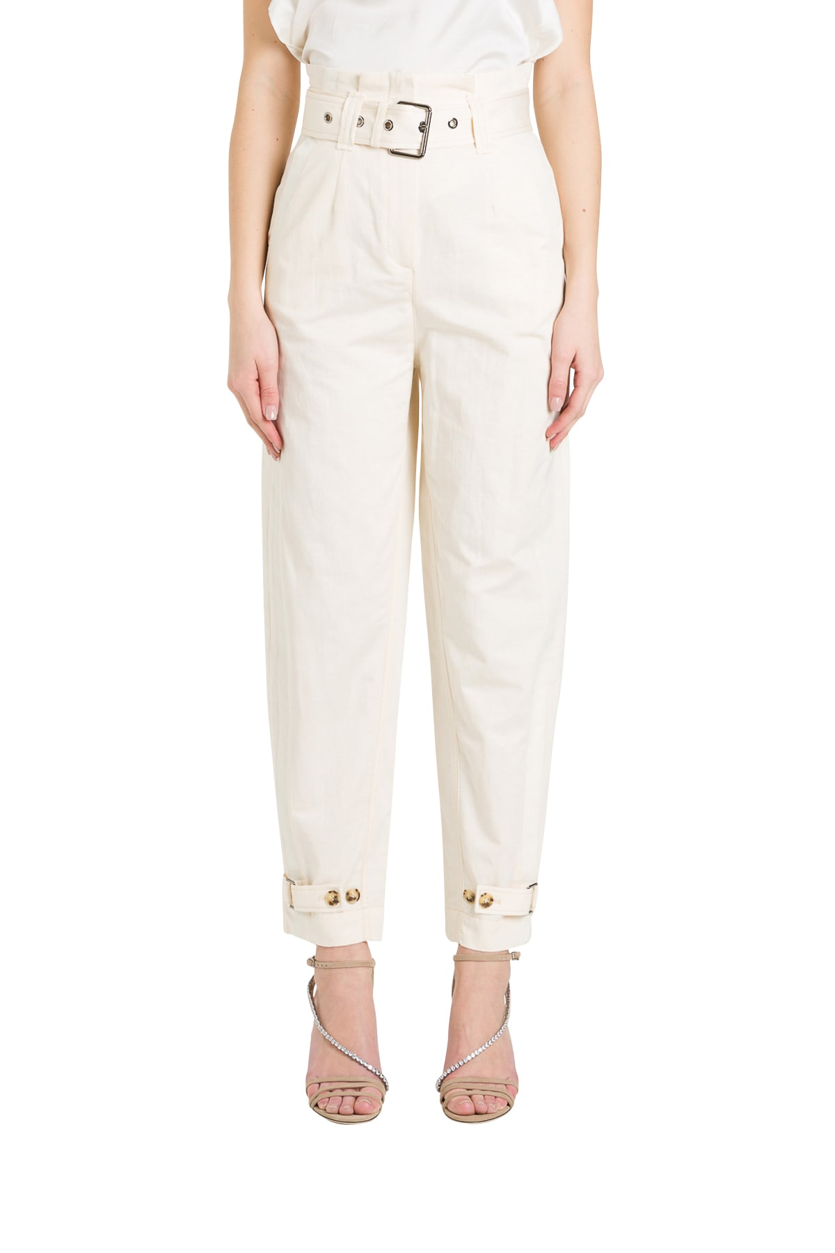 Pinko Belted High-rise Trousers