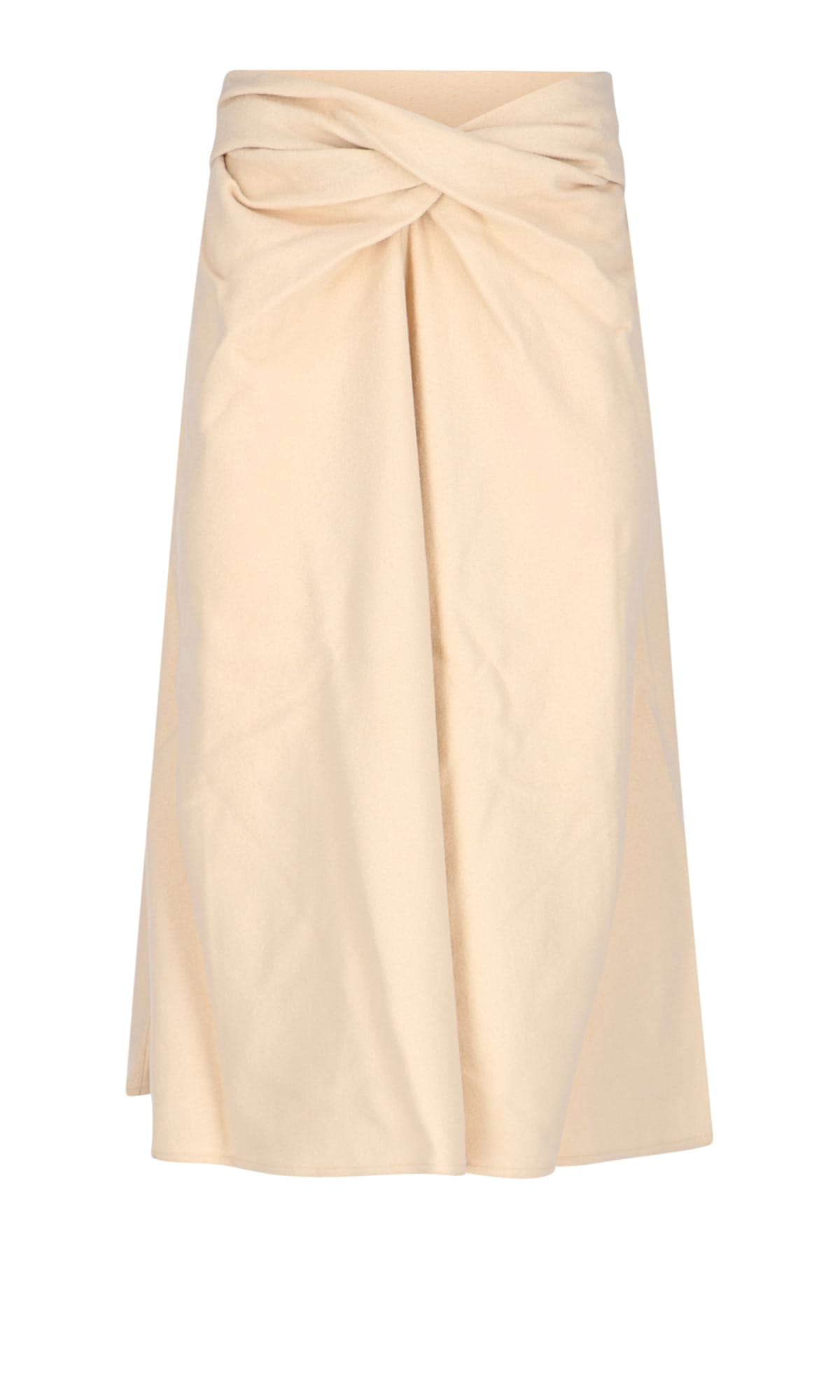 Lemaire Wools FRONT DRAPERY MIDI SKIRT