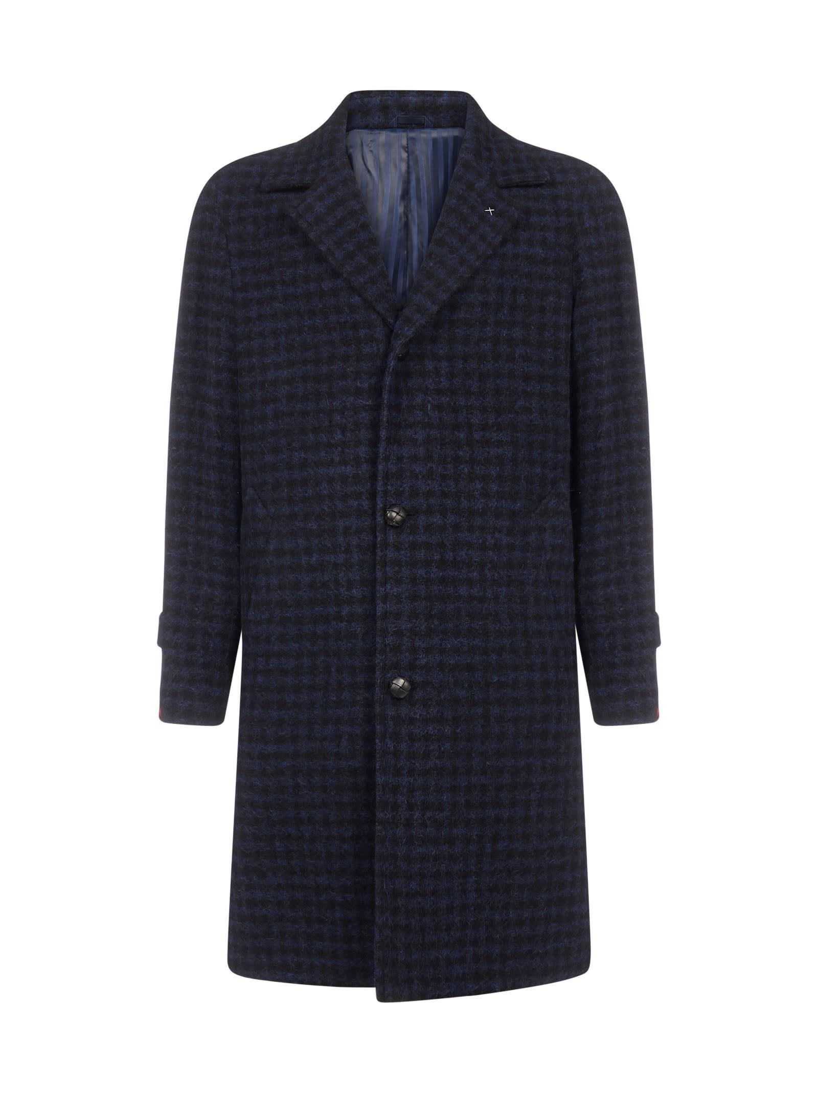 Douglas Gingham Virgin Wool Coat
