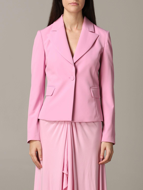 Be Blumarine Jacket Be Blumarine Single-breasted Cady Jacket