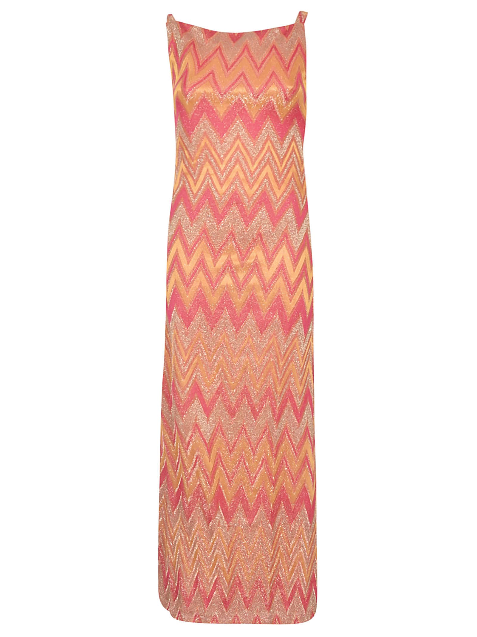 Buy M Missoni Zigzag Sleeveless Dress online, shop M Missoni with free shipping