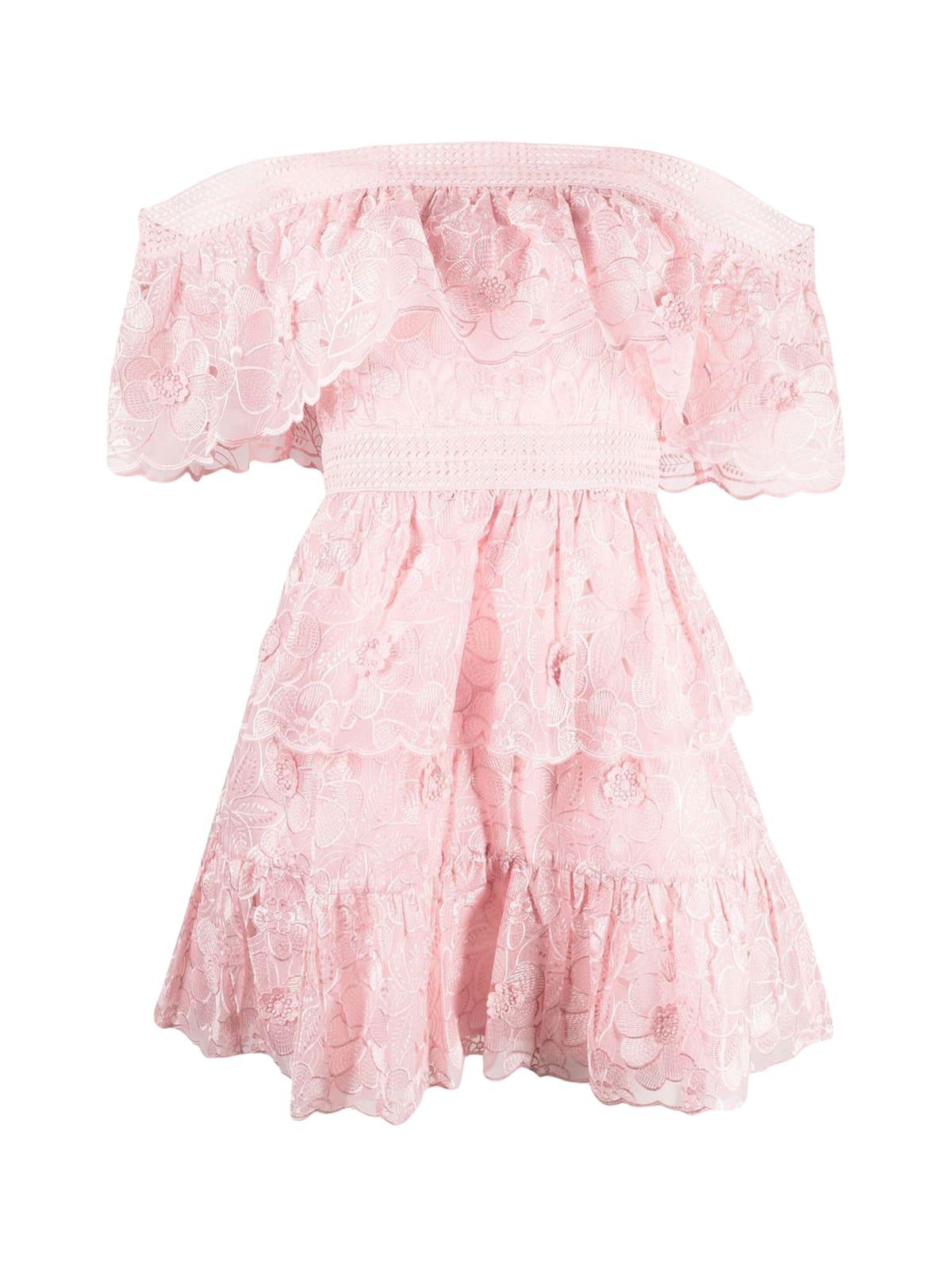 Buy self-portrait 3d Flower Mini Dress online, shop self-portrait with free shipping