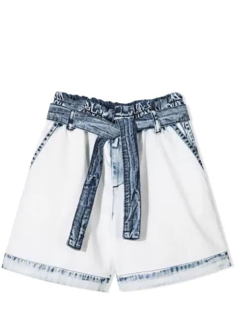 Msgm Denims DENIM SHORTS WITH BELT