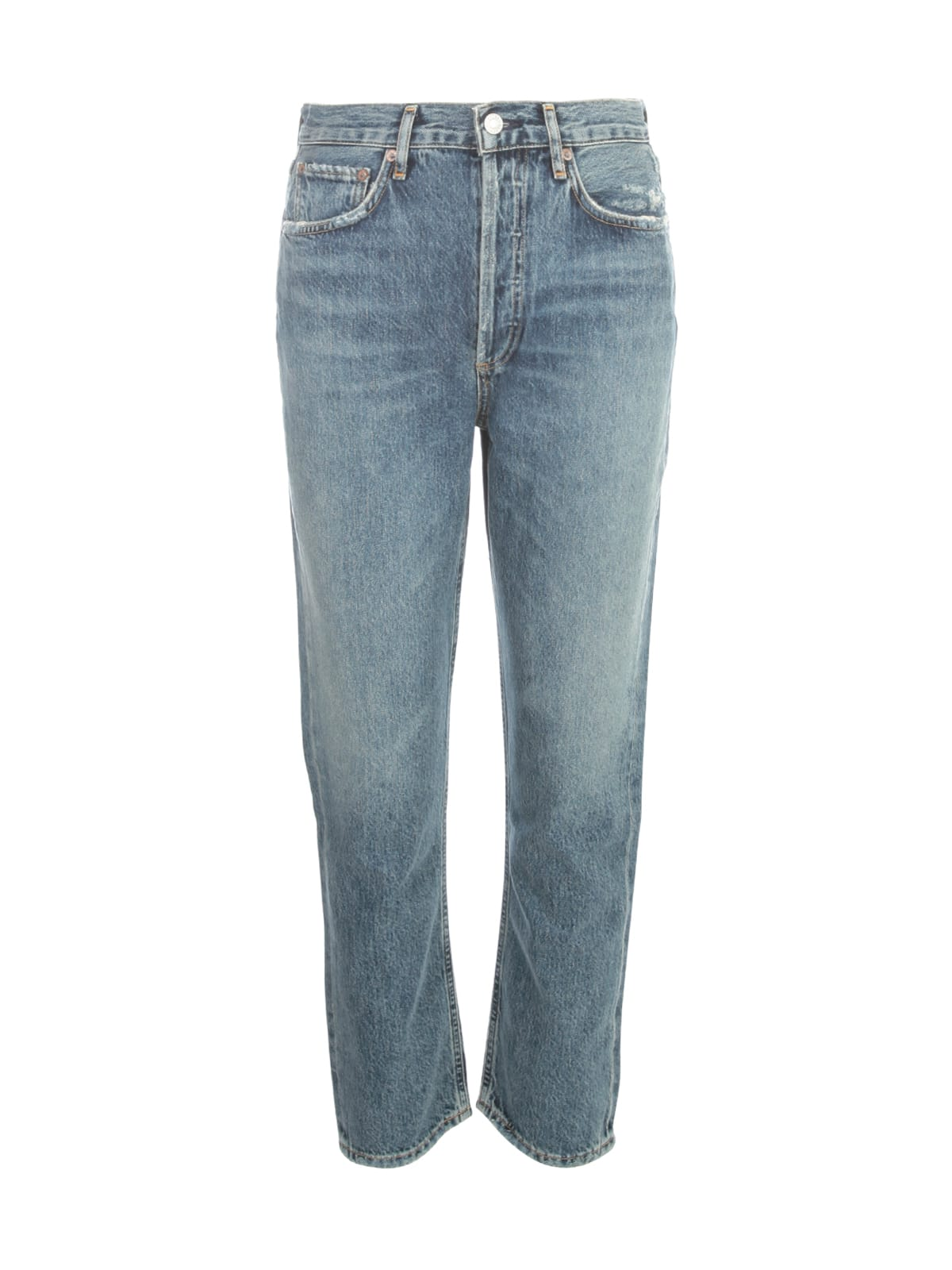 AGOLDE Riley Cropped High Waisted Jeans