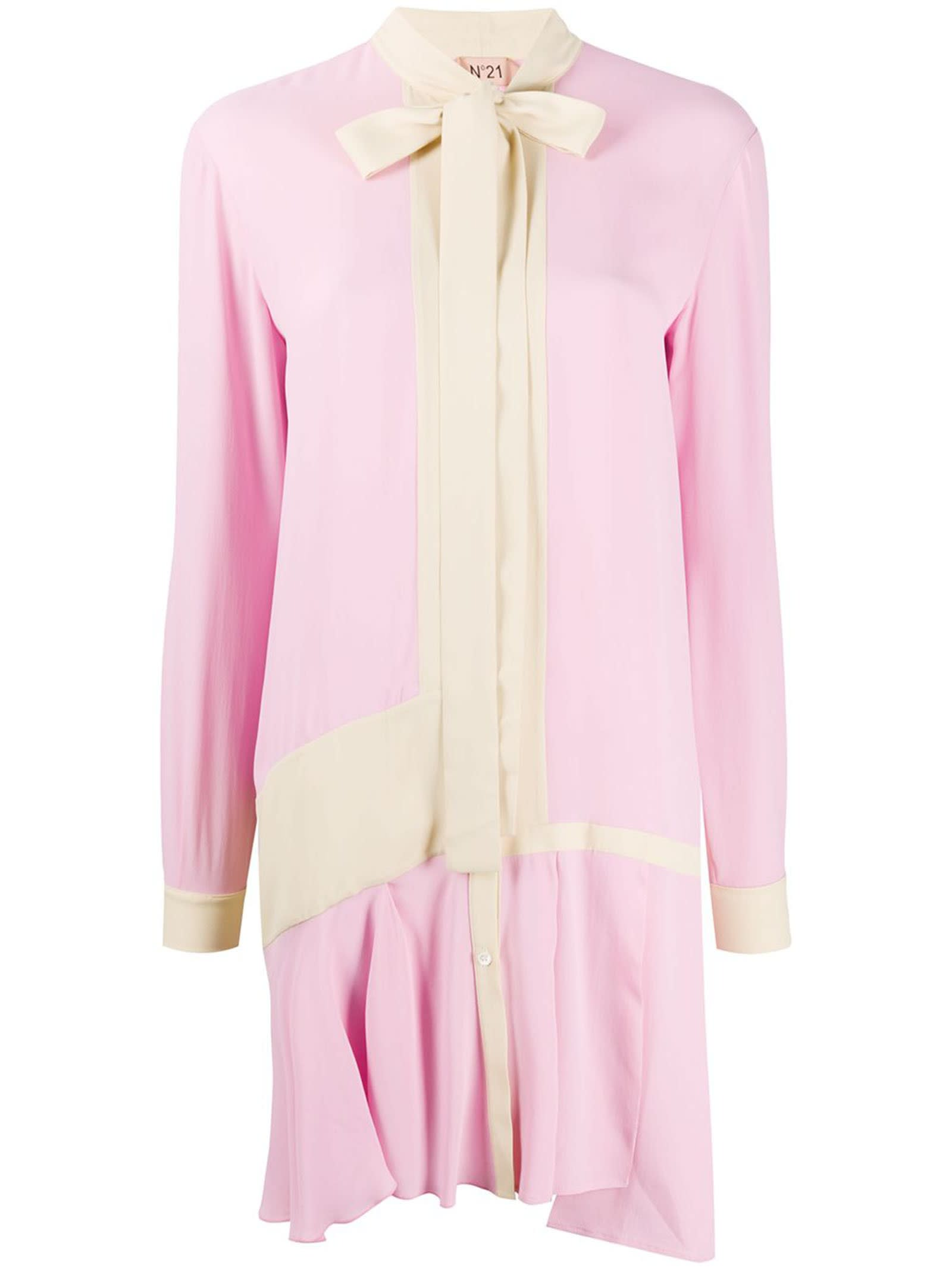 Buy N°21 Contrast Panerl Shirt Dress online, shop N.21 with free shipping