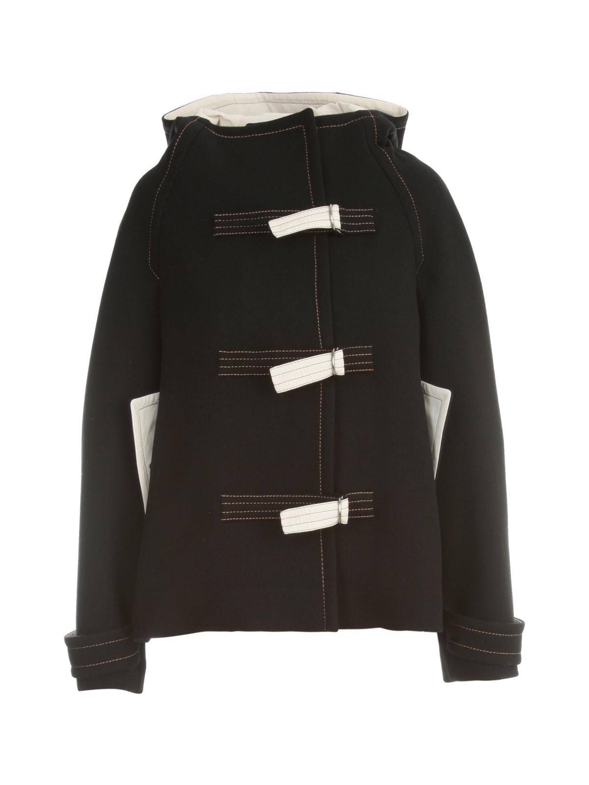 Short Hooded Bomber Jacket