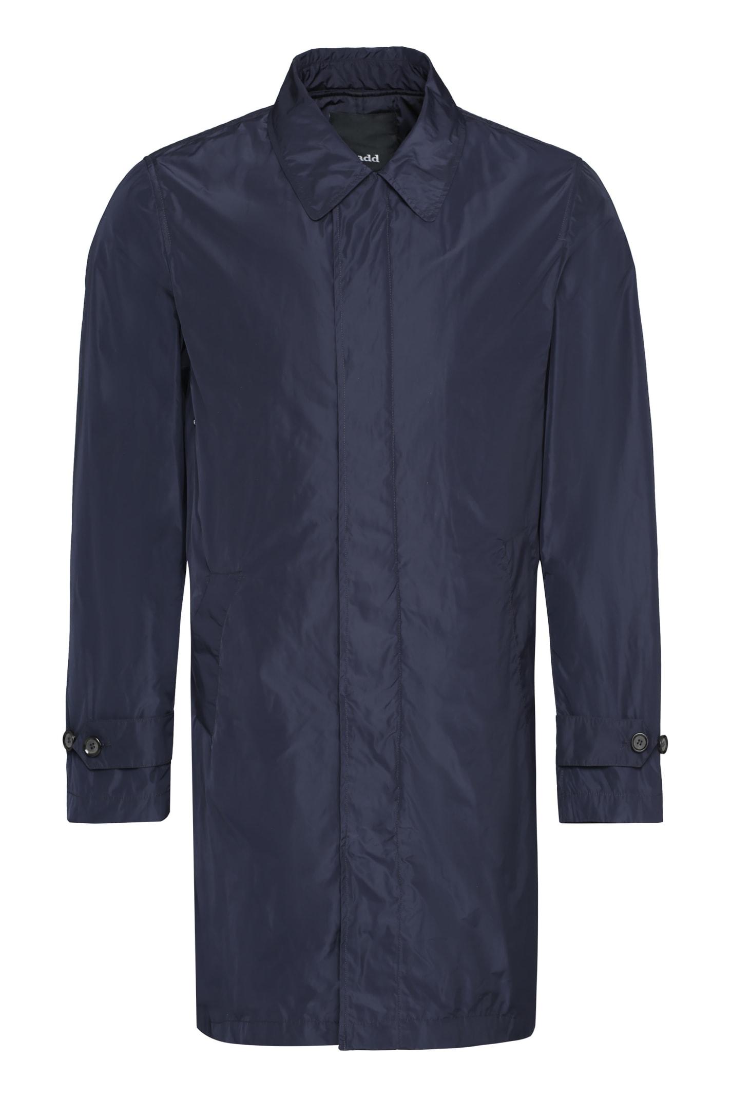 Add Techno Fabric Trench Coat In Blue